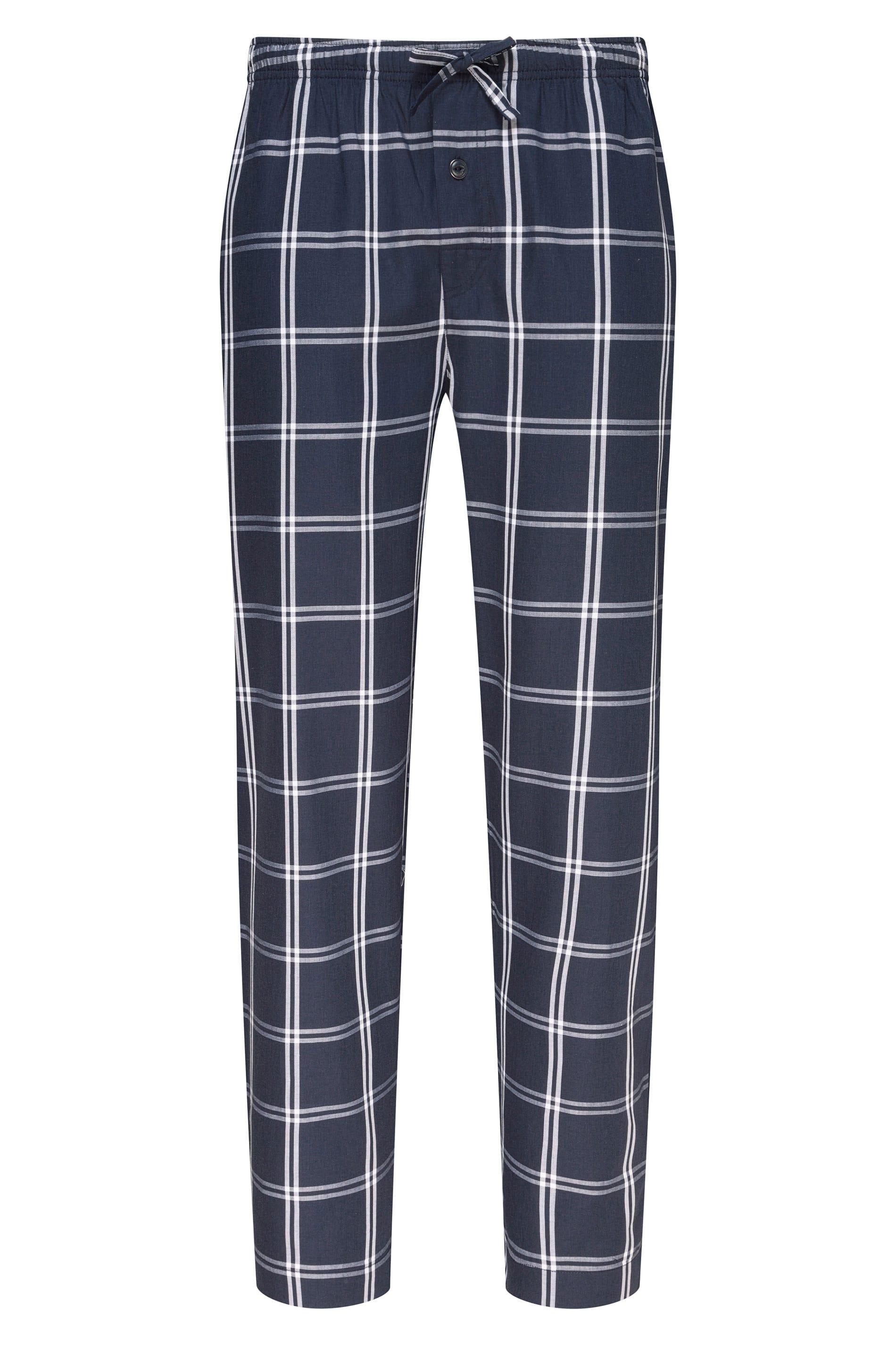 JOCKEY Navy Check Lounge Pyjama Bottoms