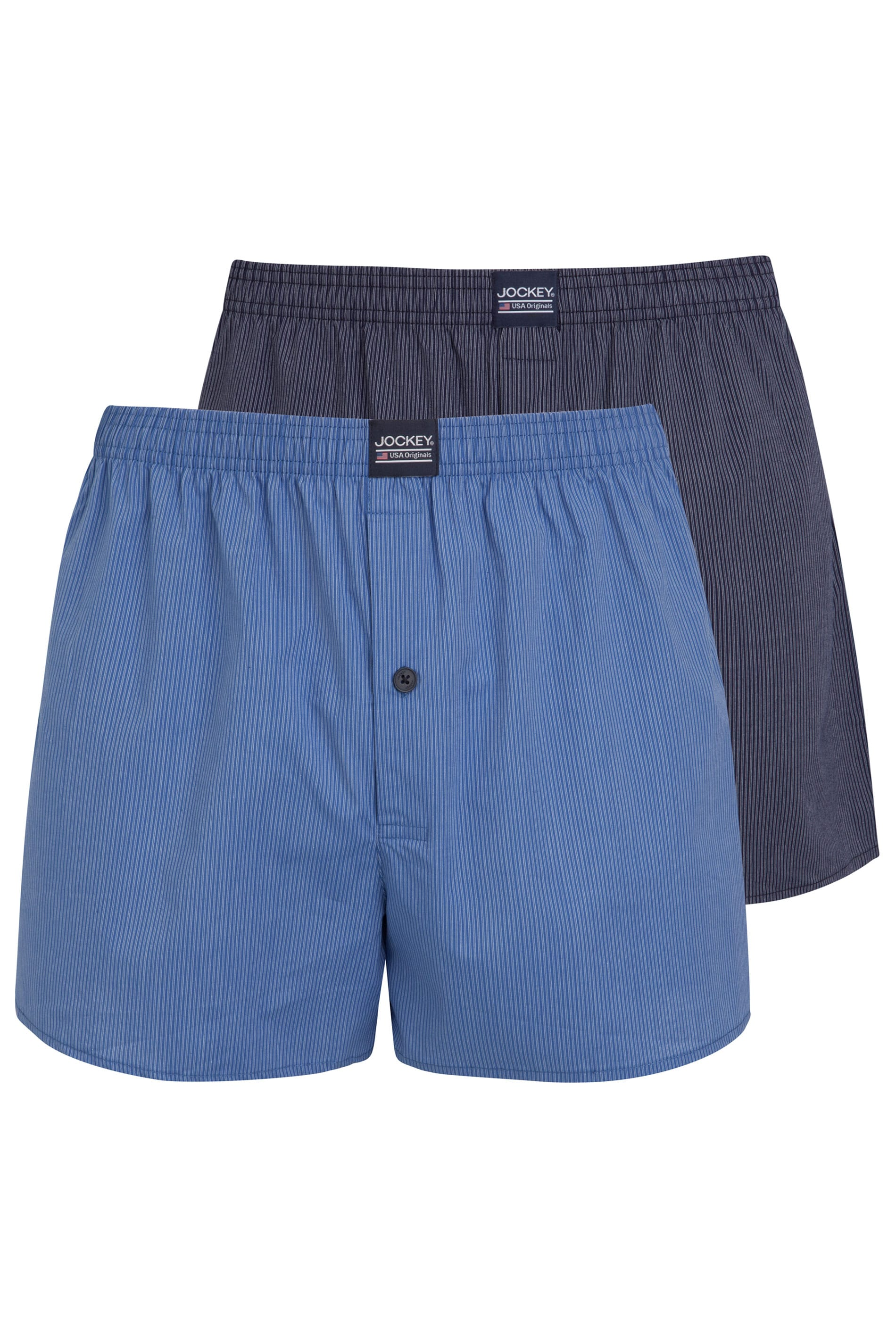 JOCKEY 2 PACK Blue Woven Pinstripe Boxers