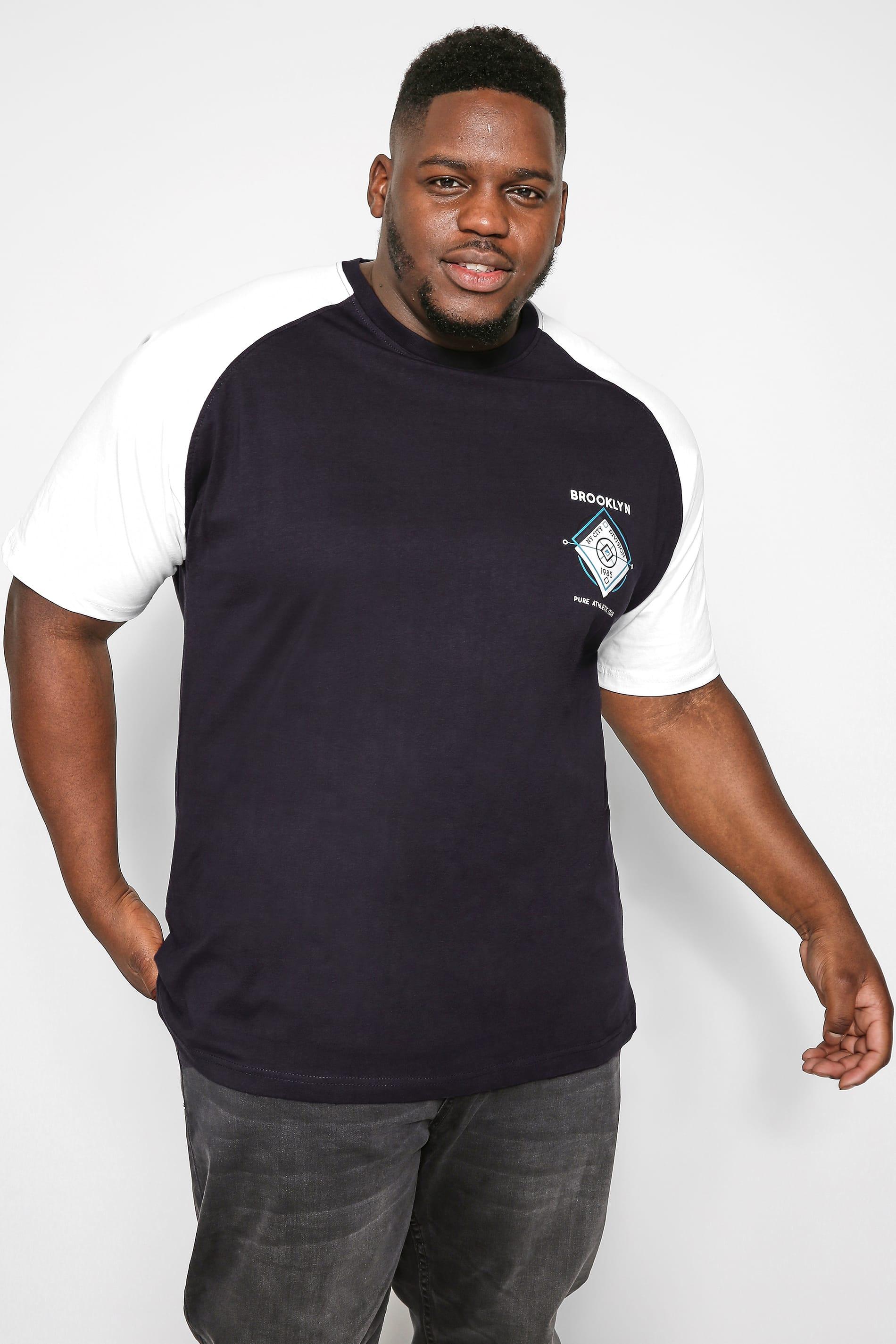 KAM Black Raglan Graphic T-Shirt