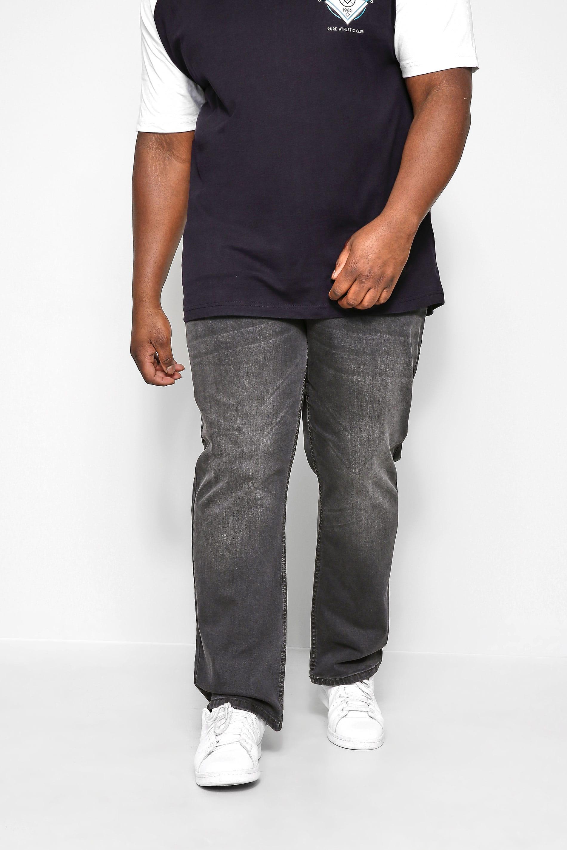 KAM Charcoal Grey Stretch Jeans