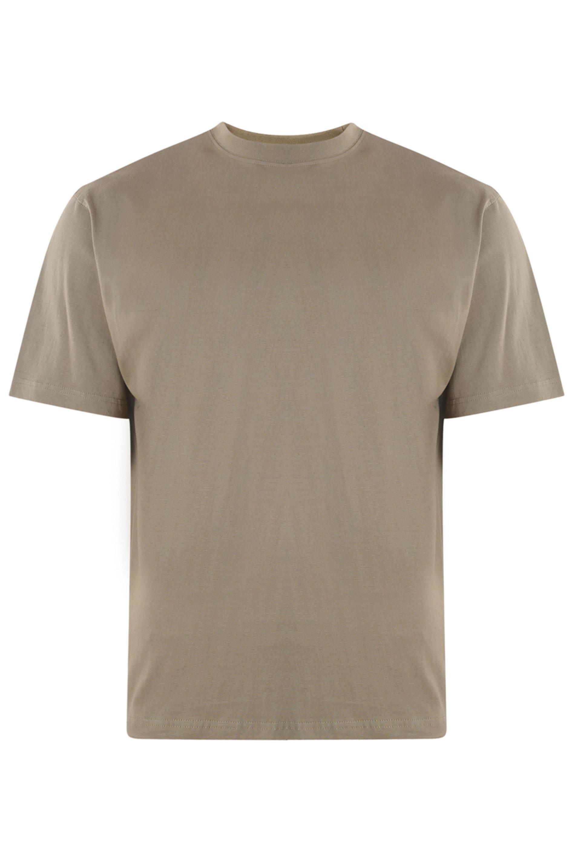 KAM Taupe Plain T-Shirt