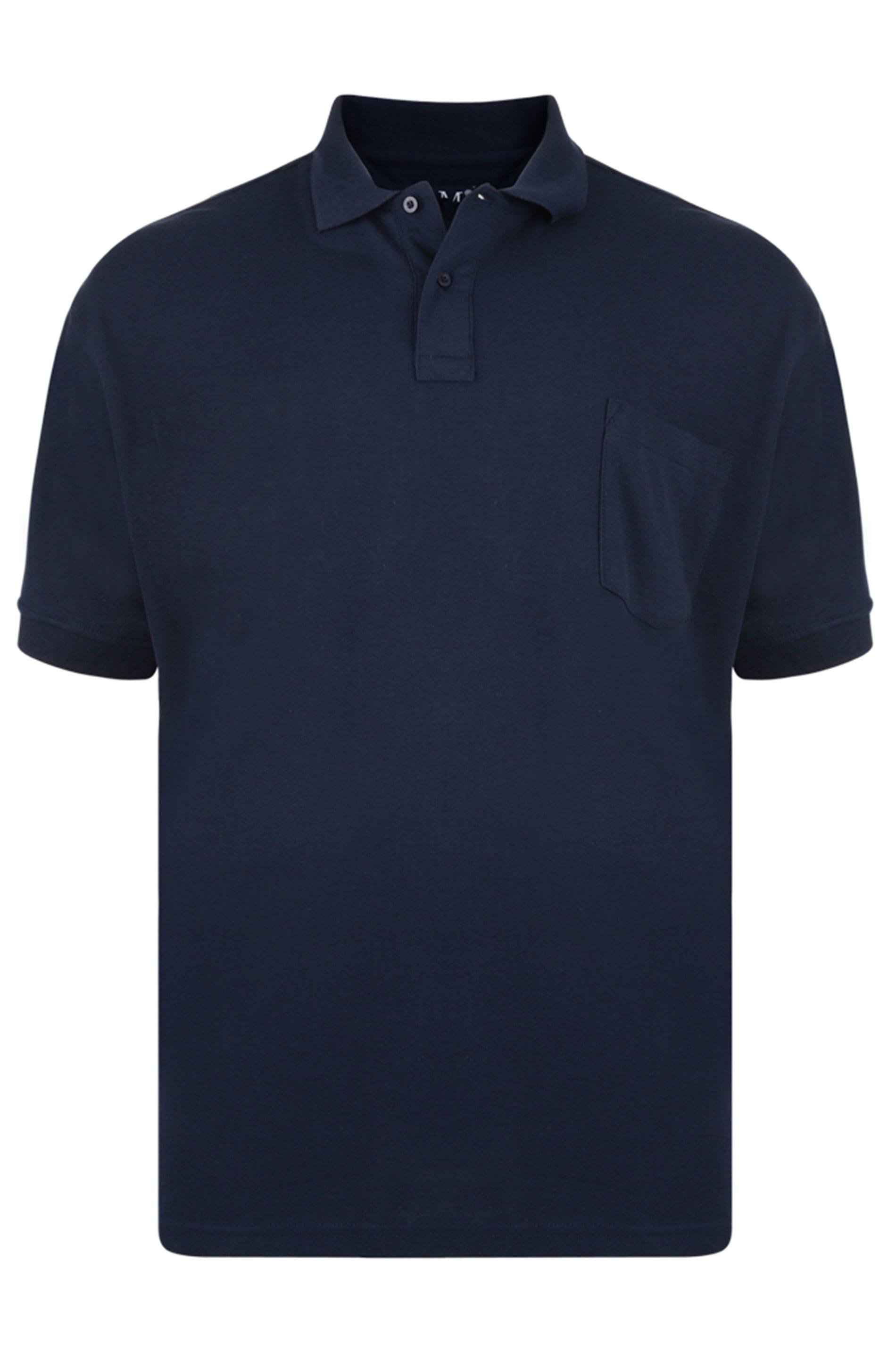 KAM Dark Navy Pocket Polo Shirt_94b0.jpg