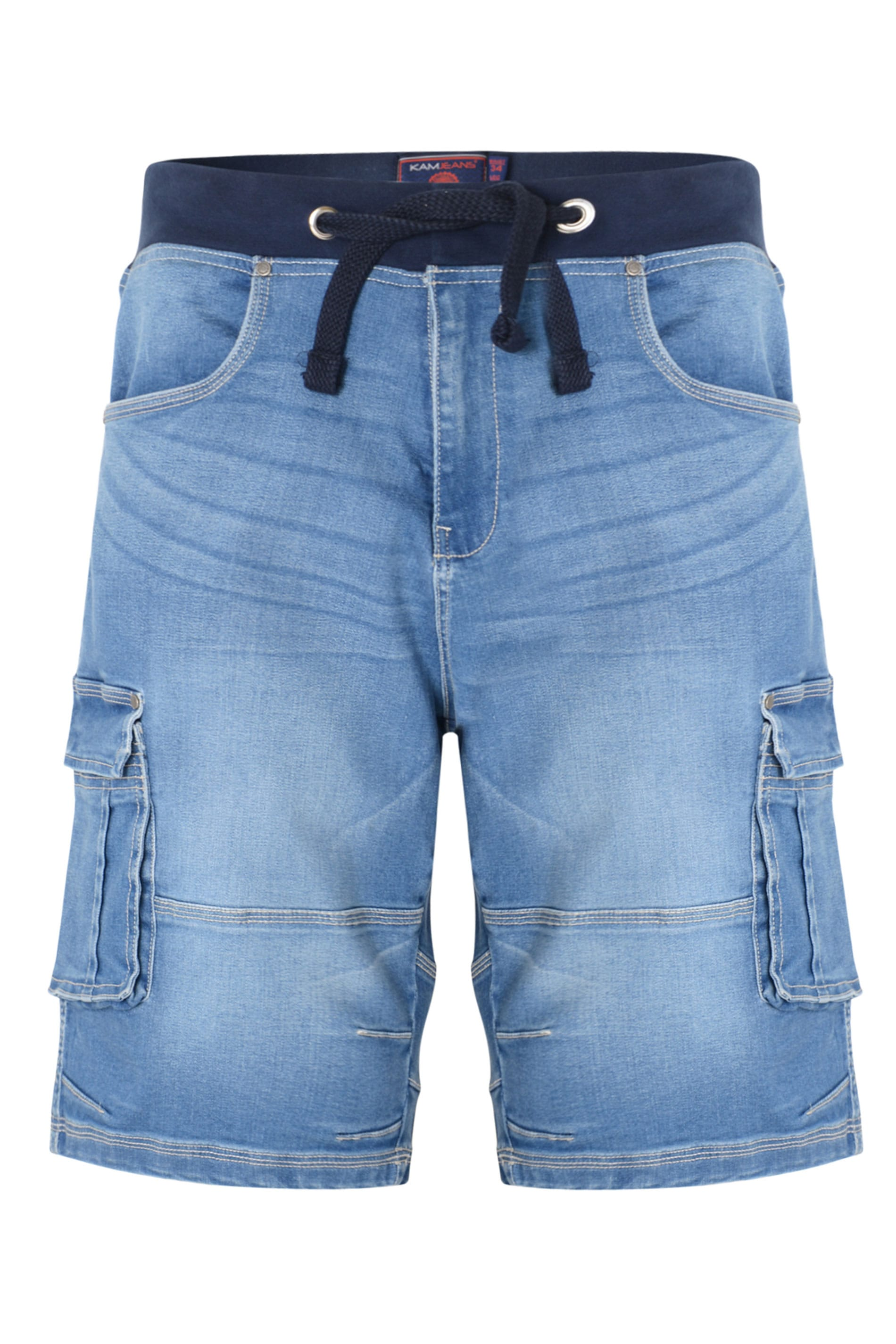 KAM Light Blue Denim Shorts