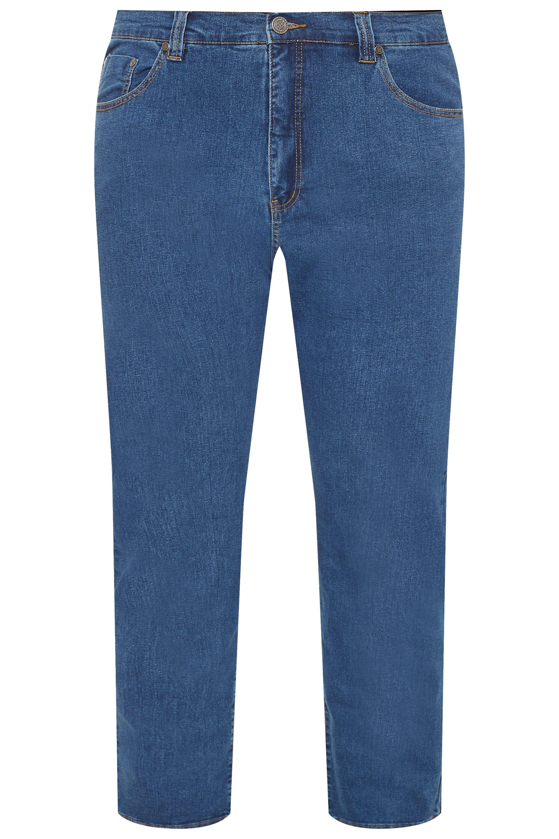 KAM Blue Stone Wash Stretch Jeans