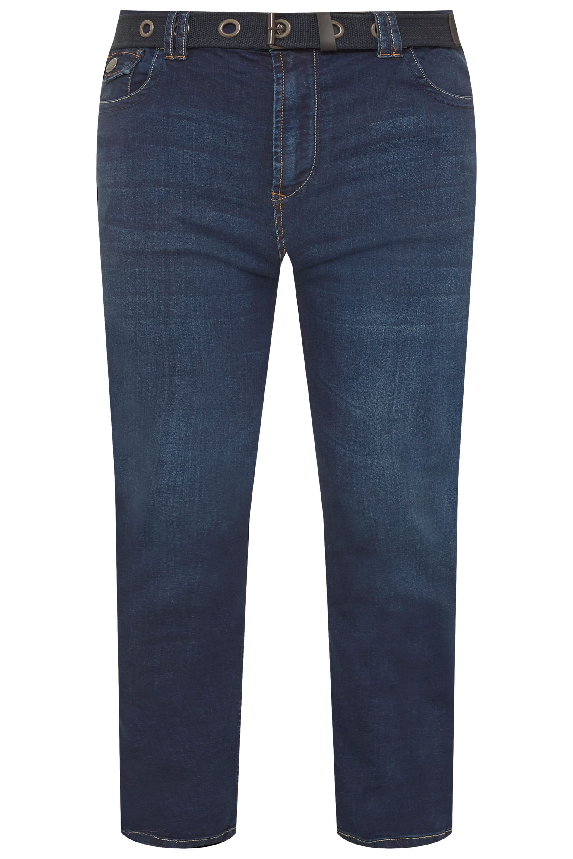 KAM Stretch-Jeans - Blau gewaschen
