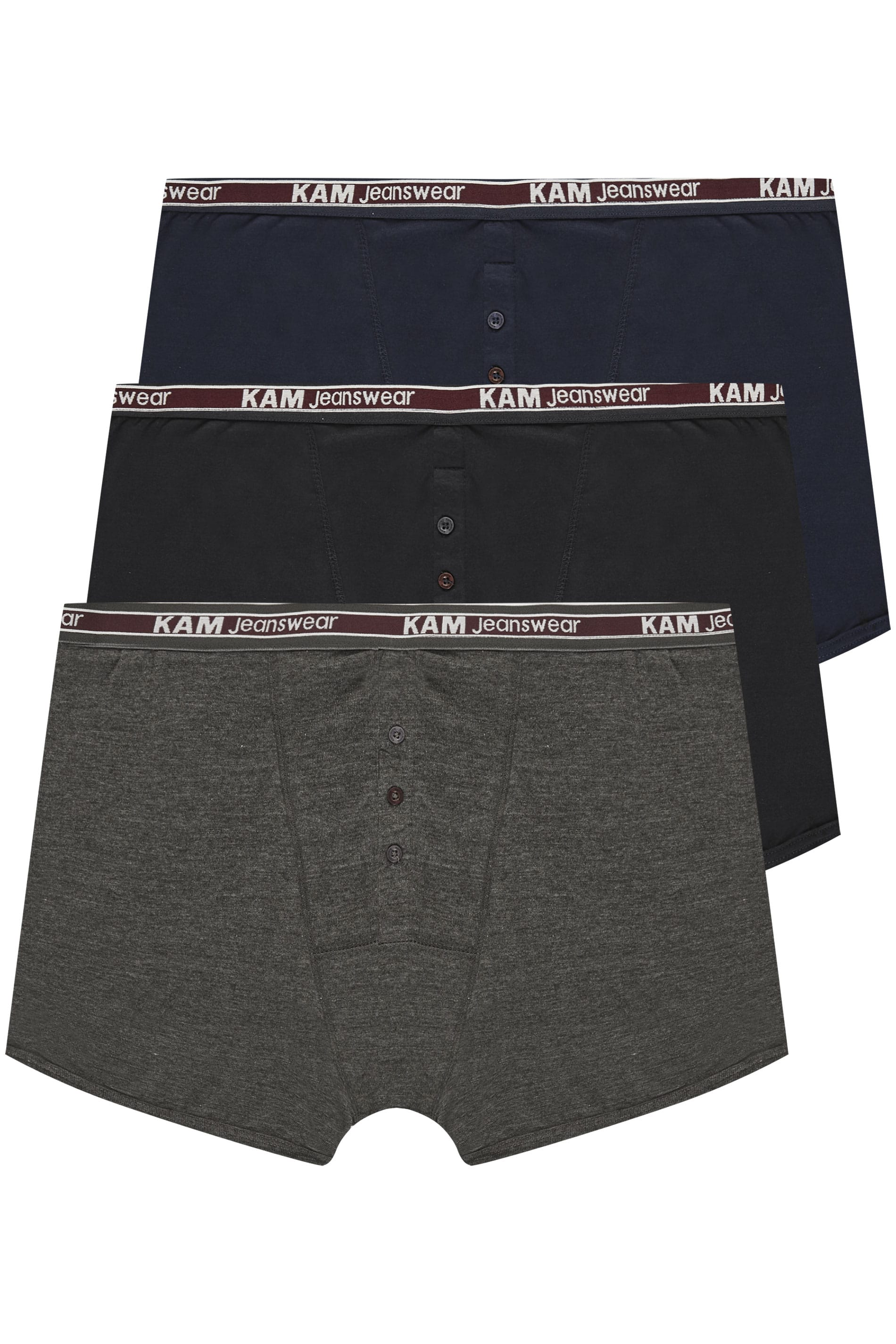 KAM 3 PACK Assorted Boxers
