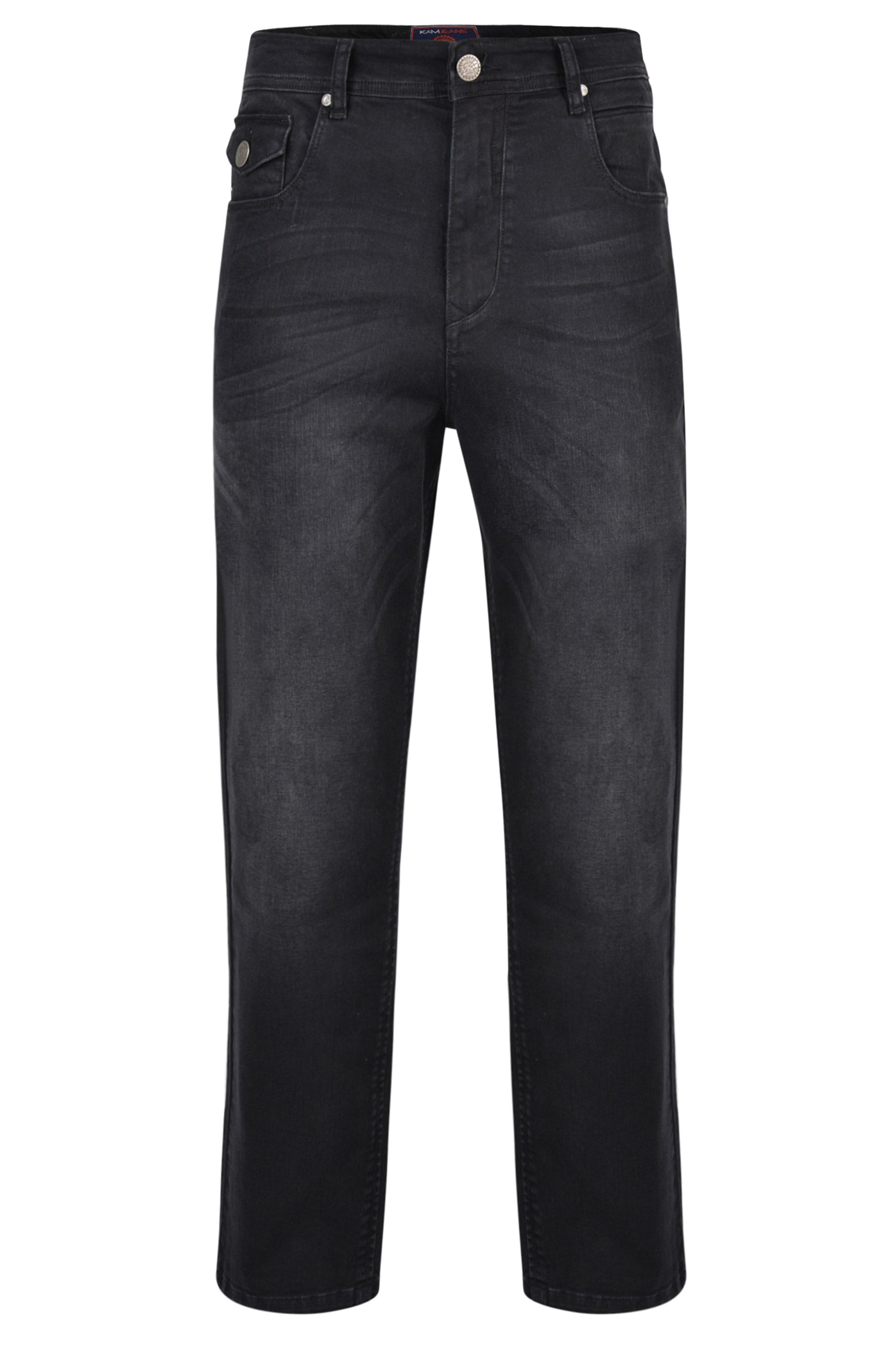 KAM Black Stretch Denim Jeans