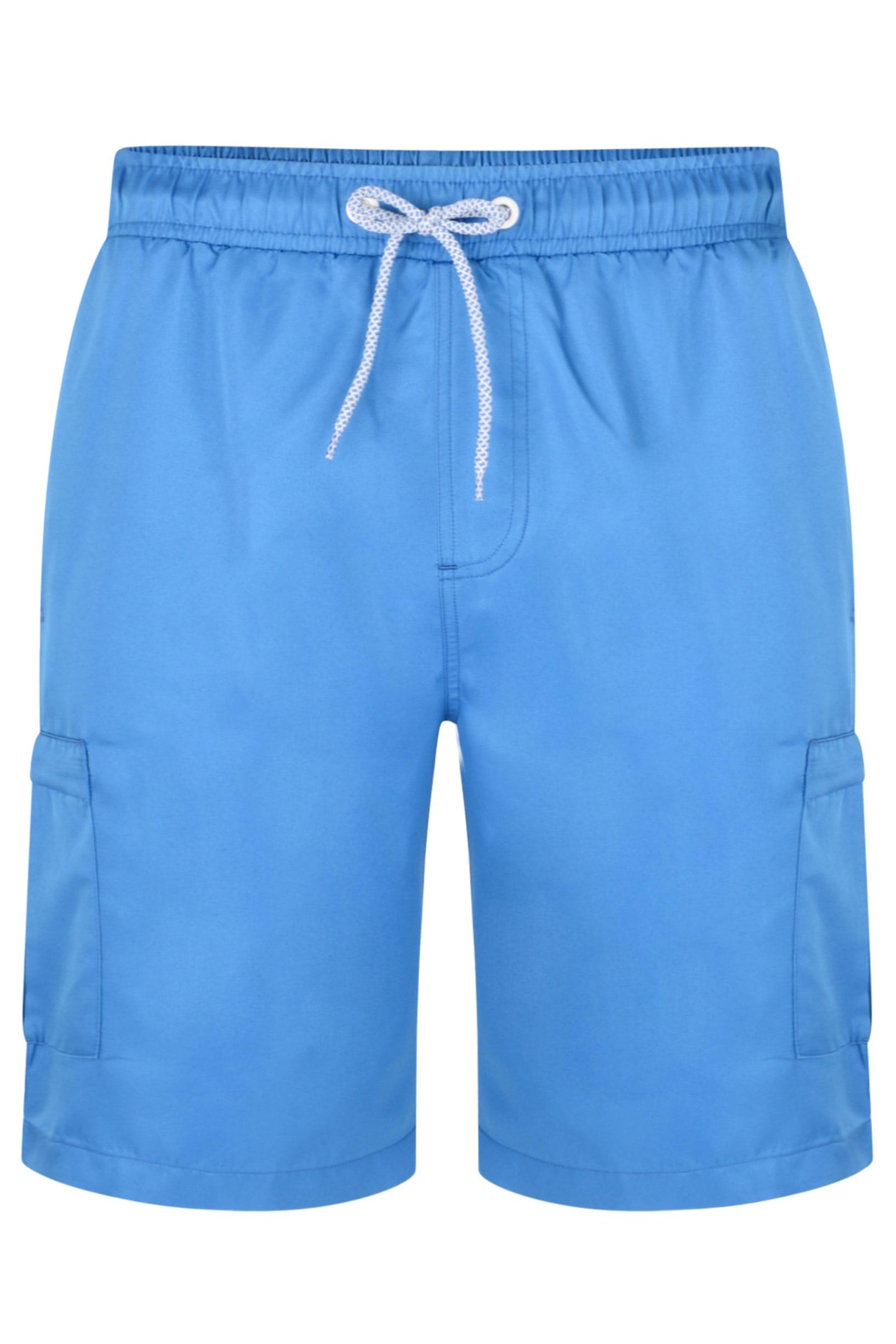 KAM Blue Cargo Swim Shorts