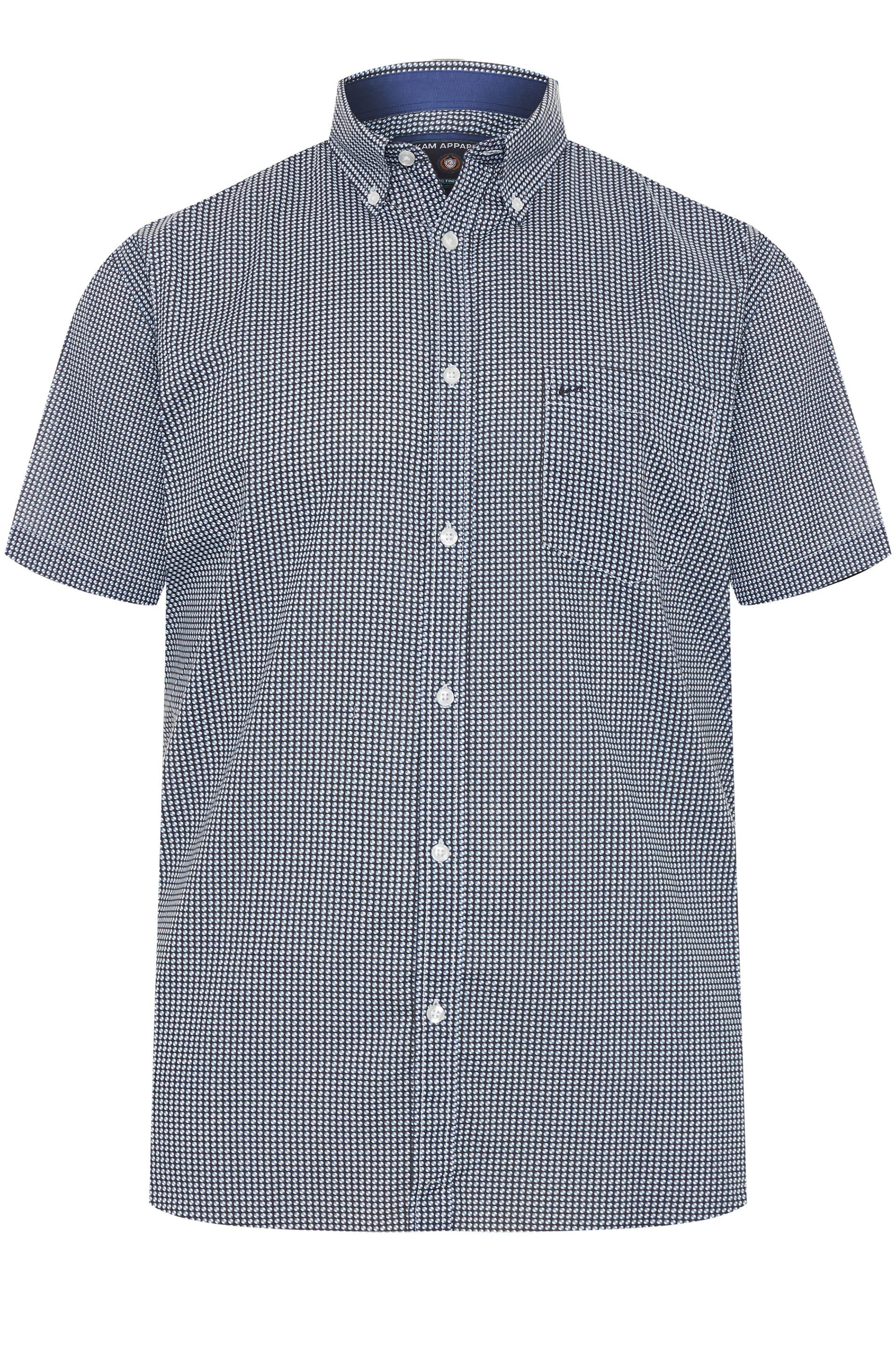 KAM Blue Denim Patterned Shirt