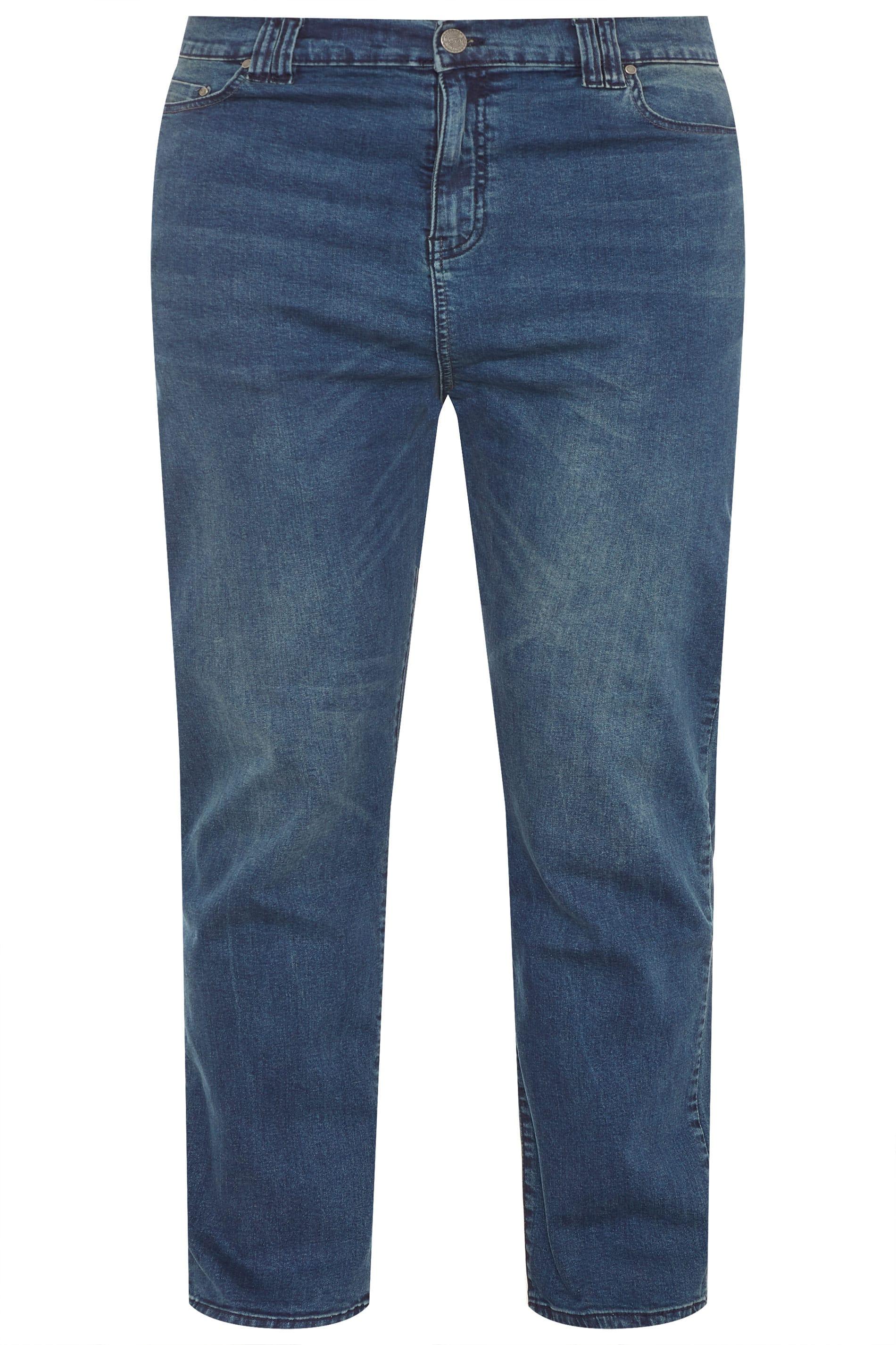 KAM F101 Jeans - Stonewash Blau