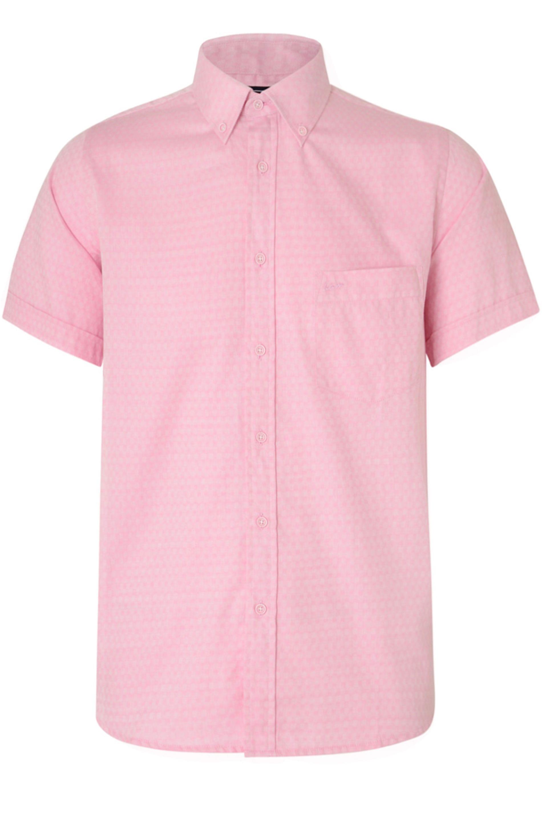 KAM Pink Herringbone Shirt