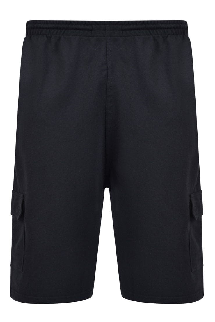 KAM Black Cargo Lounge Shorts