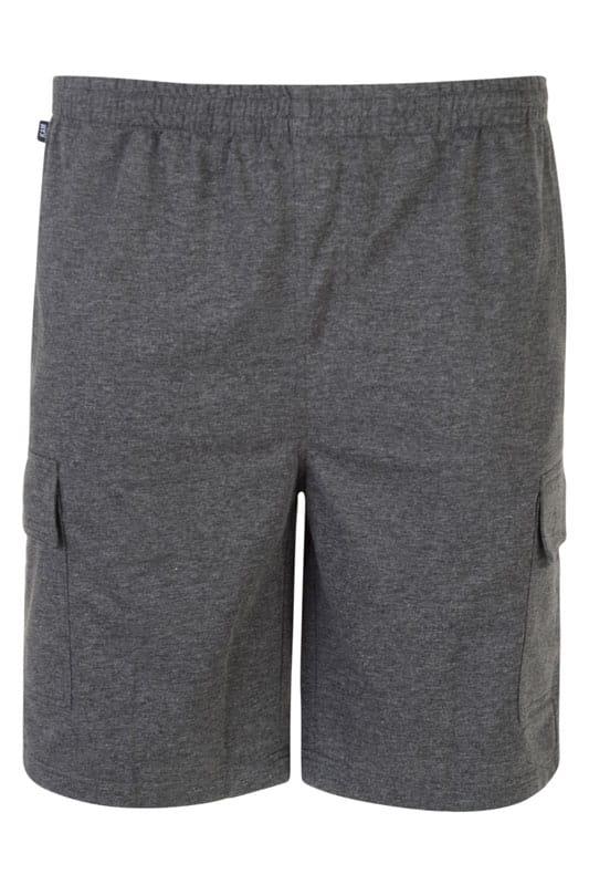KAM Charcoal Grey Cargo Lounge Shorts