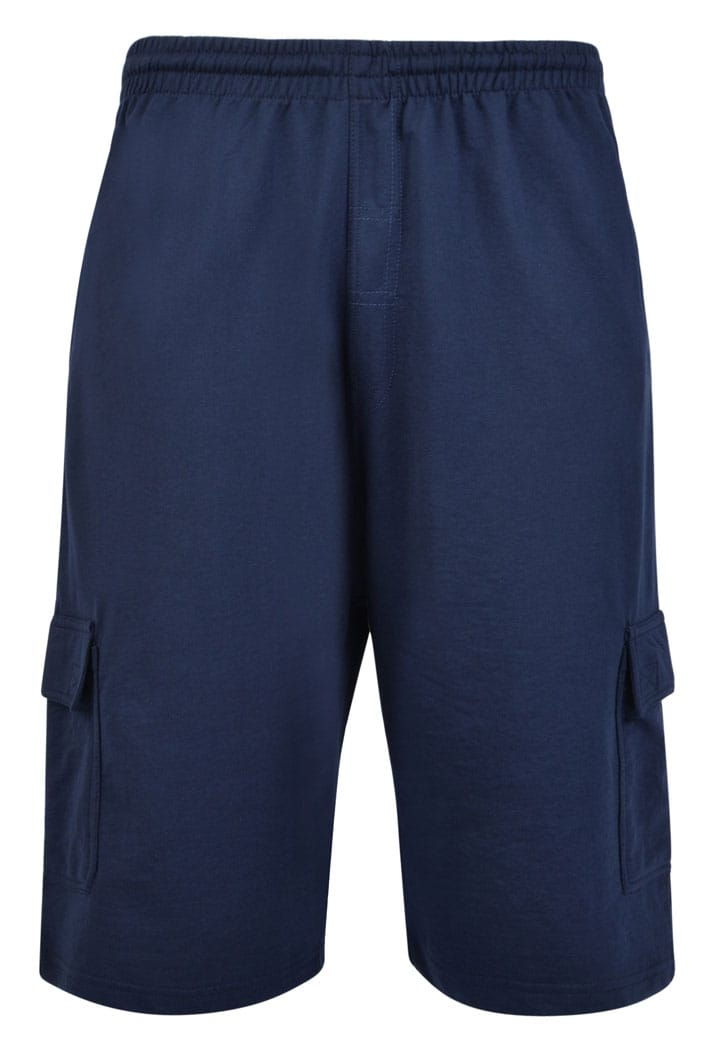 KAM Navy Cargo Lounge Shorts