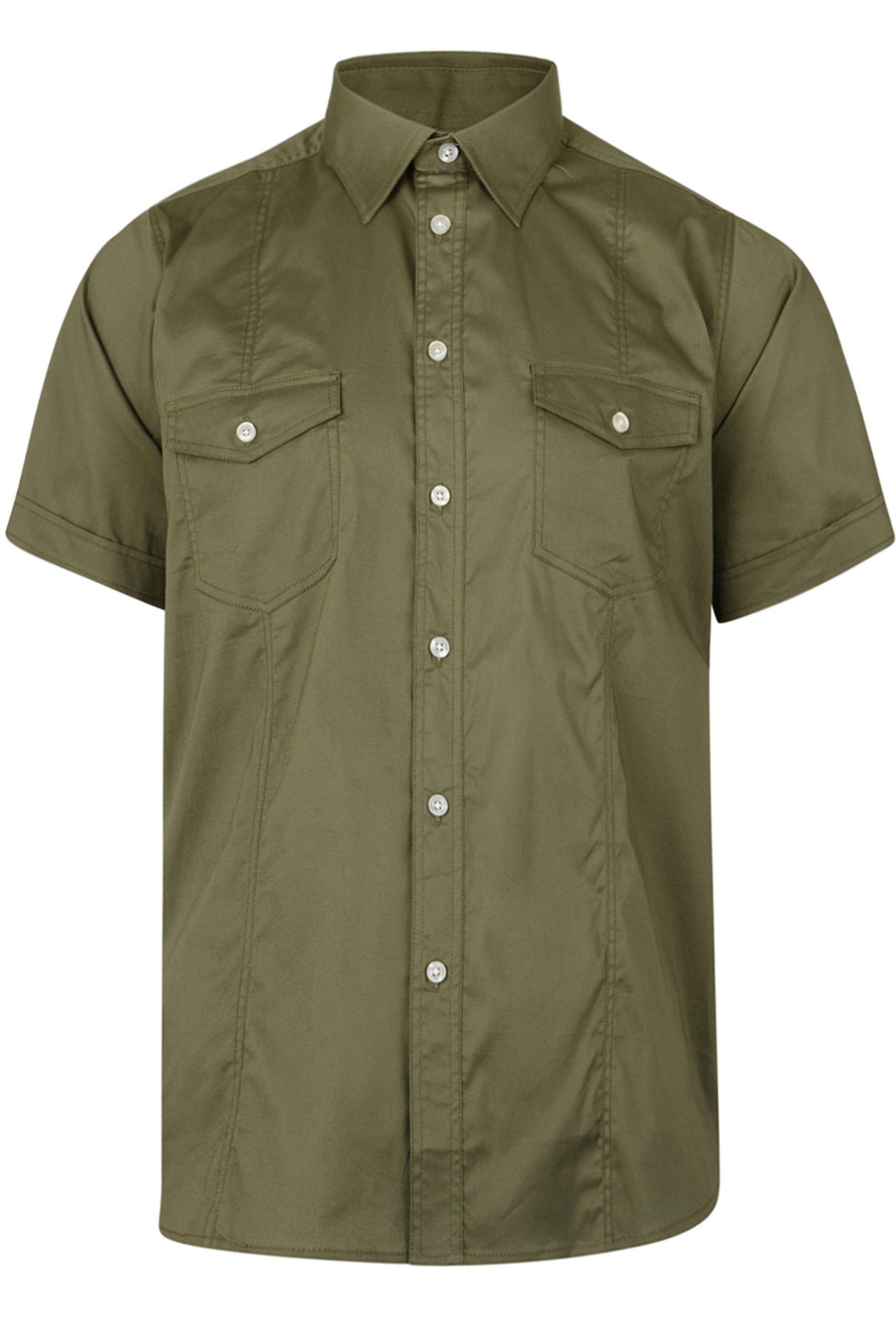 KAM Khaki Short Sleeve Shirt