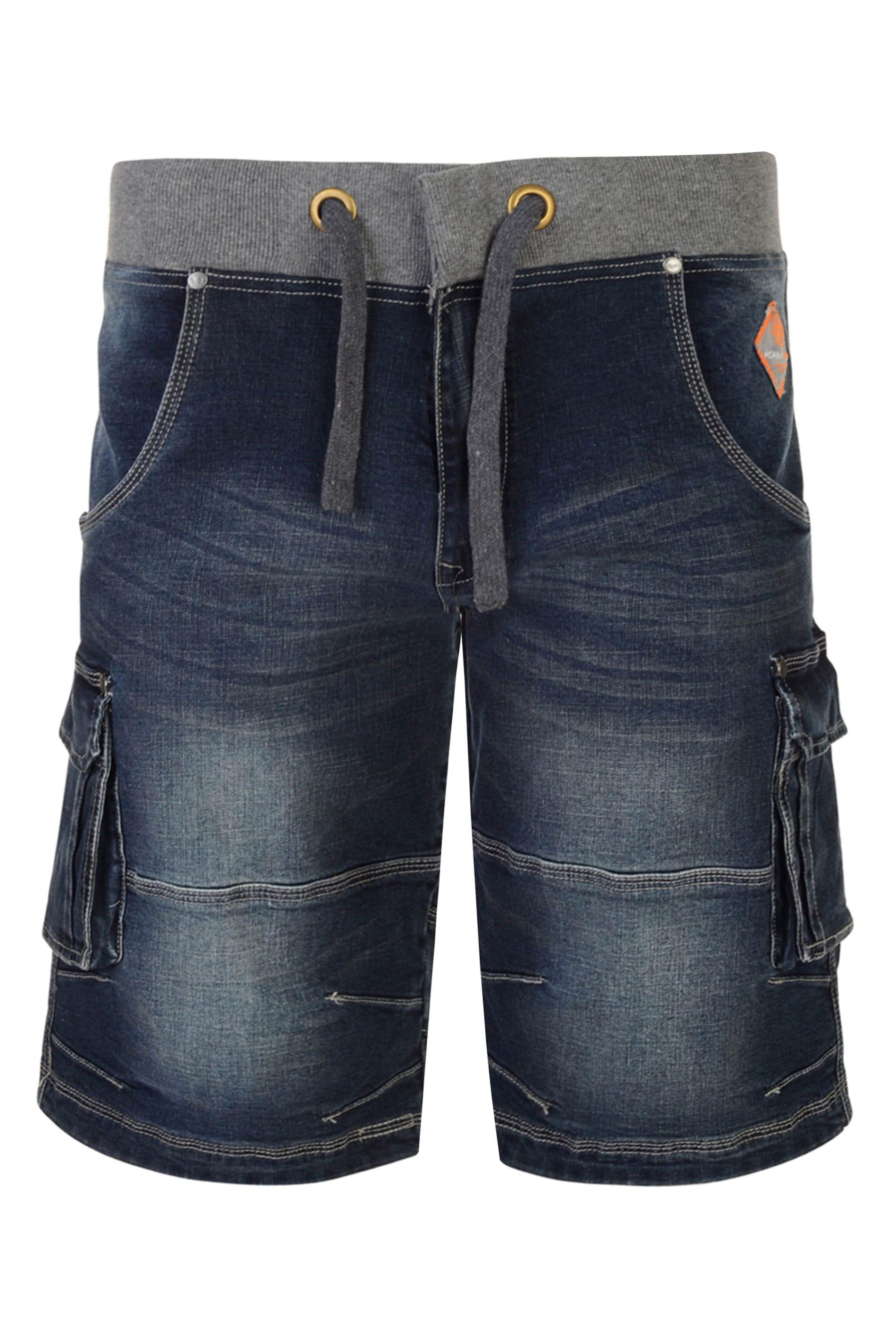 KAM Dark Blue Denim Shorts