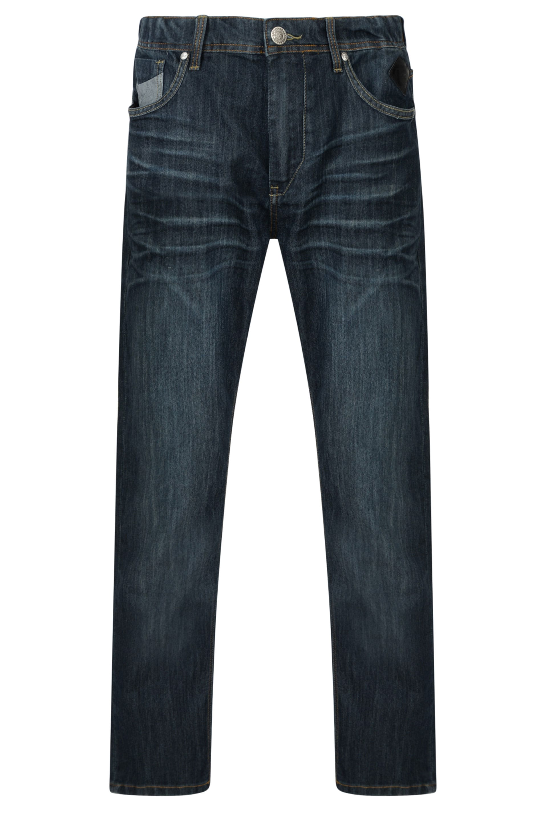 KAM Navy Blue Stretch Denim Jeans