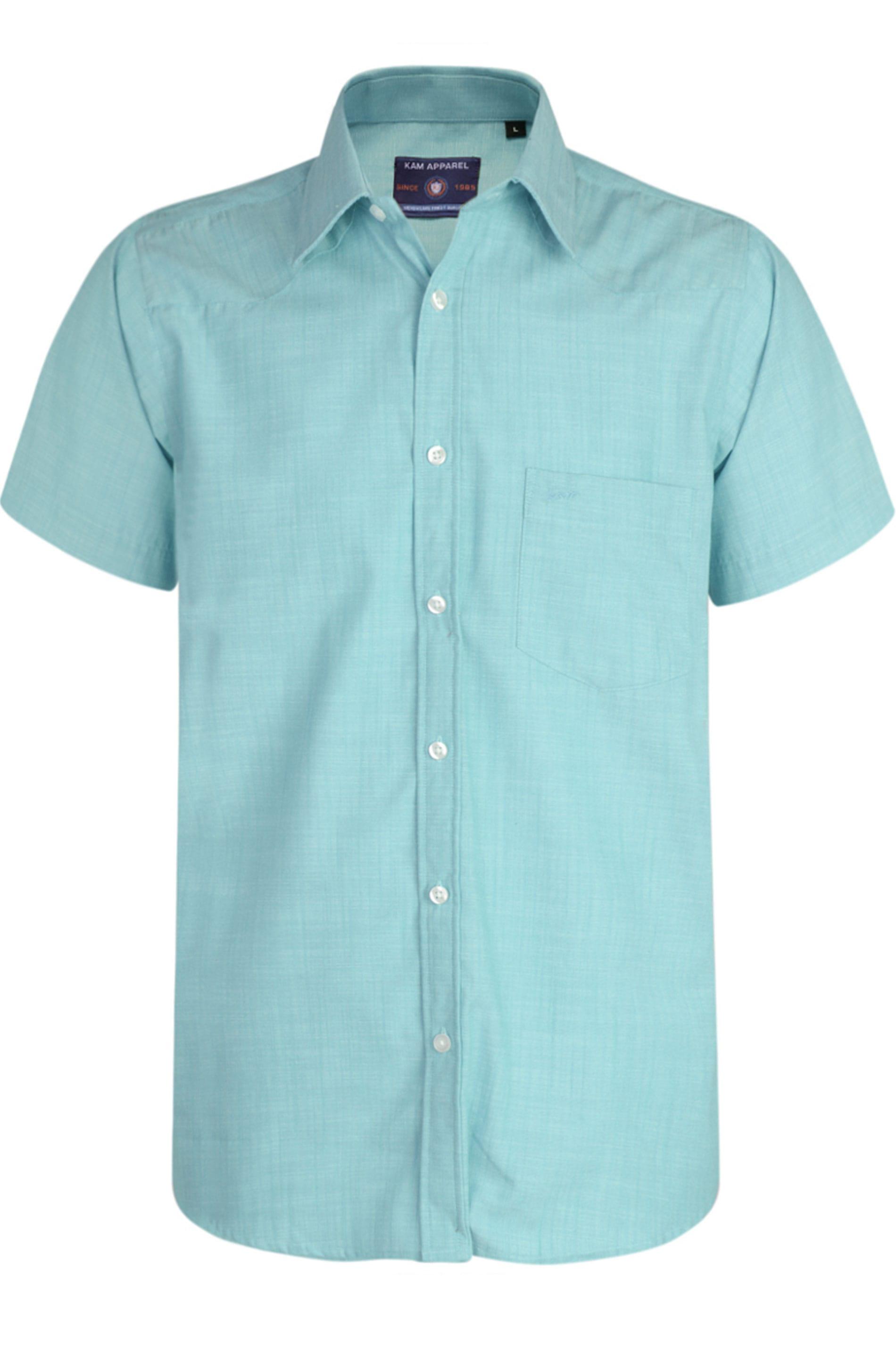 KAM Blue Slub Shirt