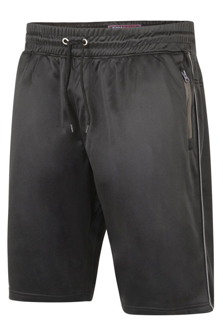 KAM Black Contrast Sports Shorts