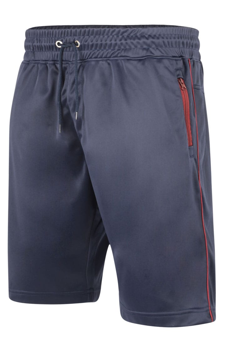 KAM Navy Contrast Sports Shorts