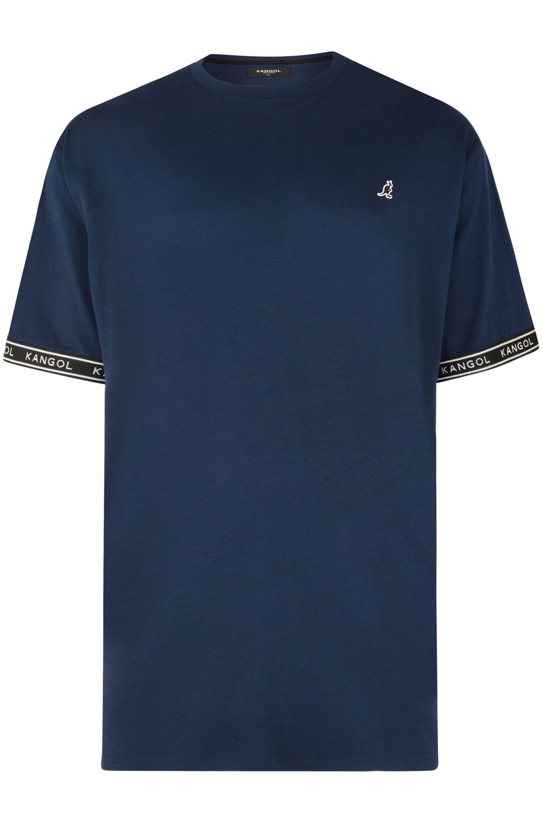KANGOL Navy Taped Sleeve T-Shirt