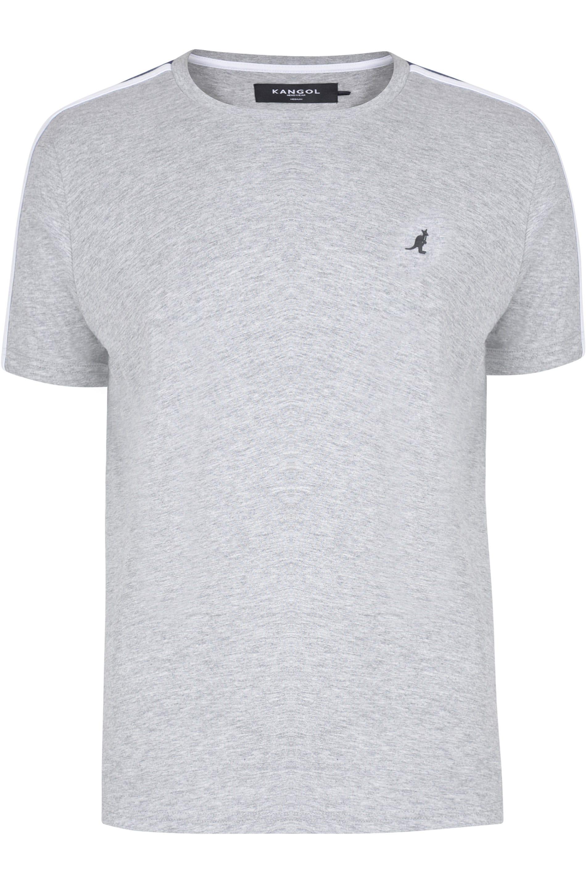 KANGOL Grey Marl Contrast Panel T-Shirt