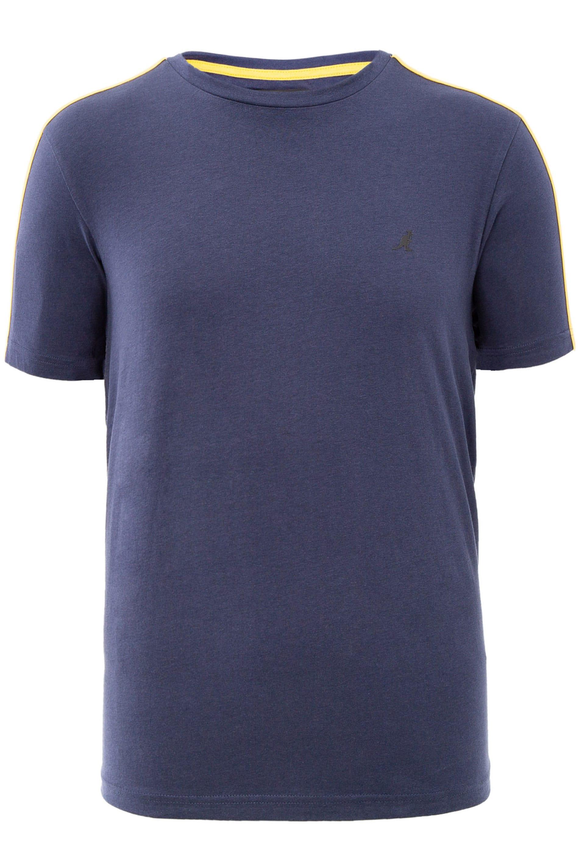 KANGOL Navy Contrast Panel T-Shirt