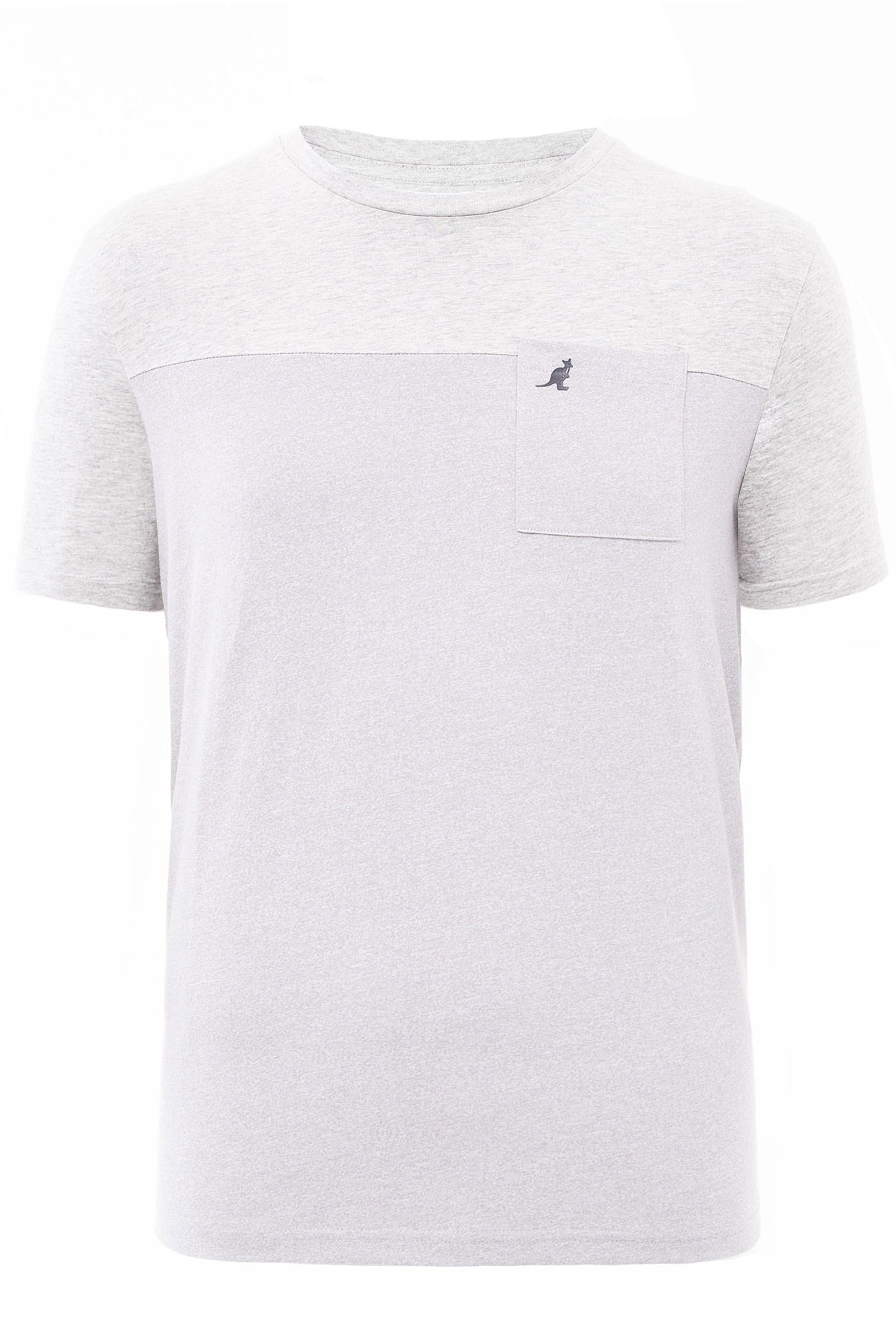 KANGOL Grey Marl Colour Block T-Shirt