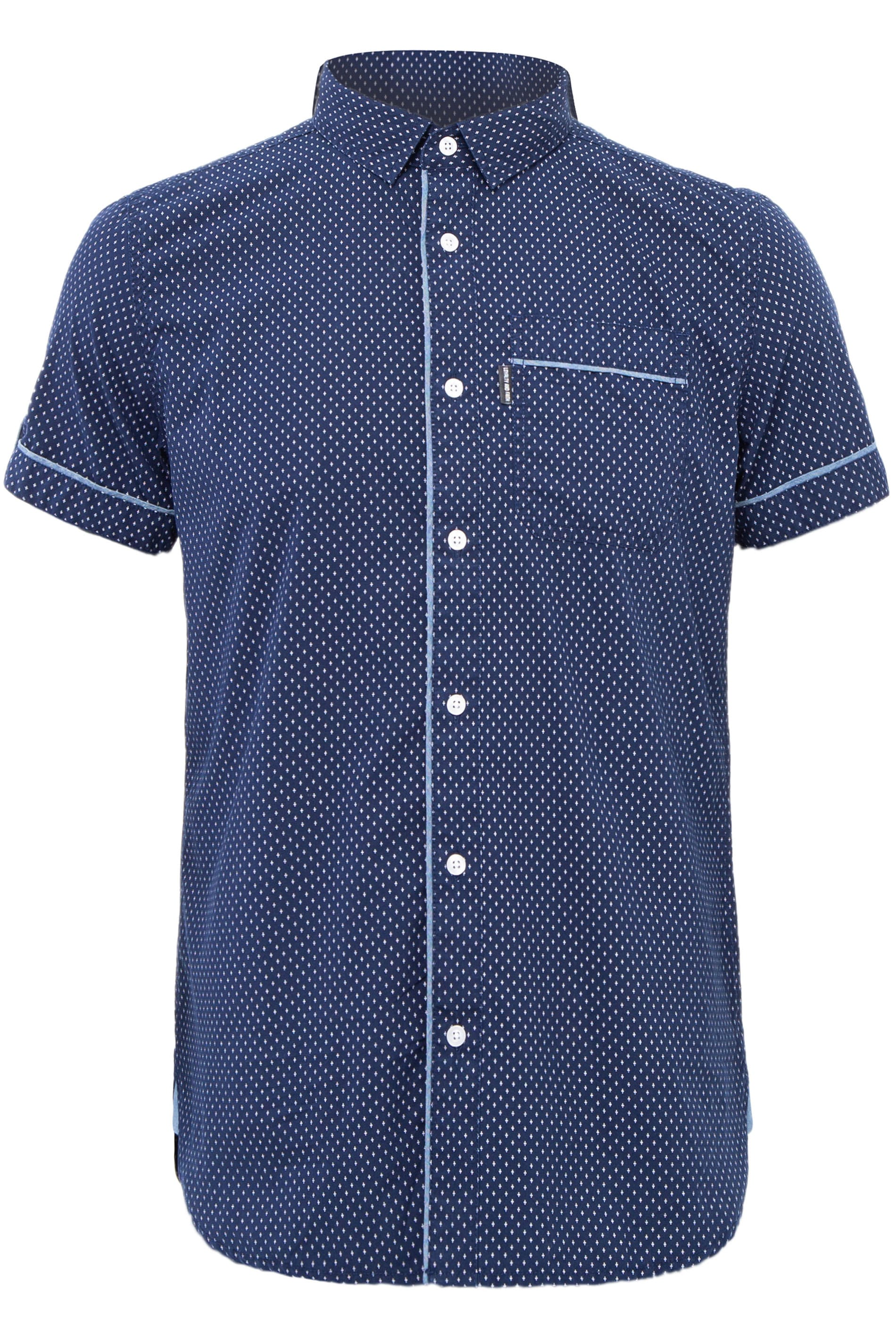 LOYALTY & FAITH Navy Printed Shirt