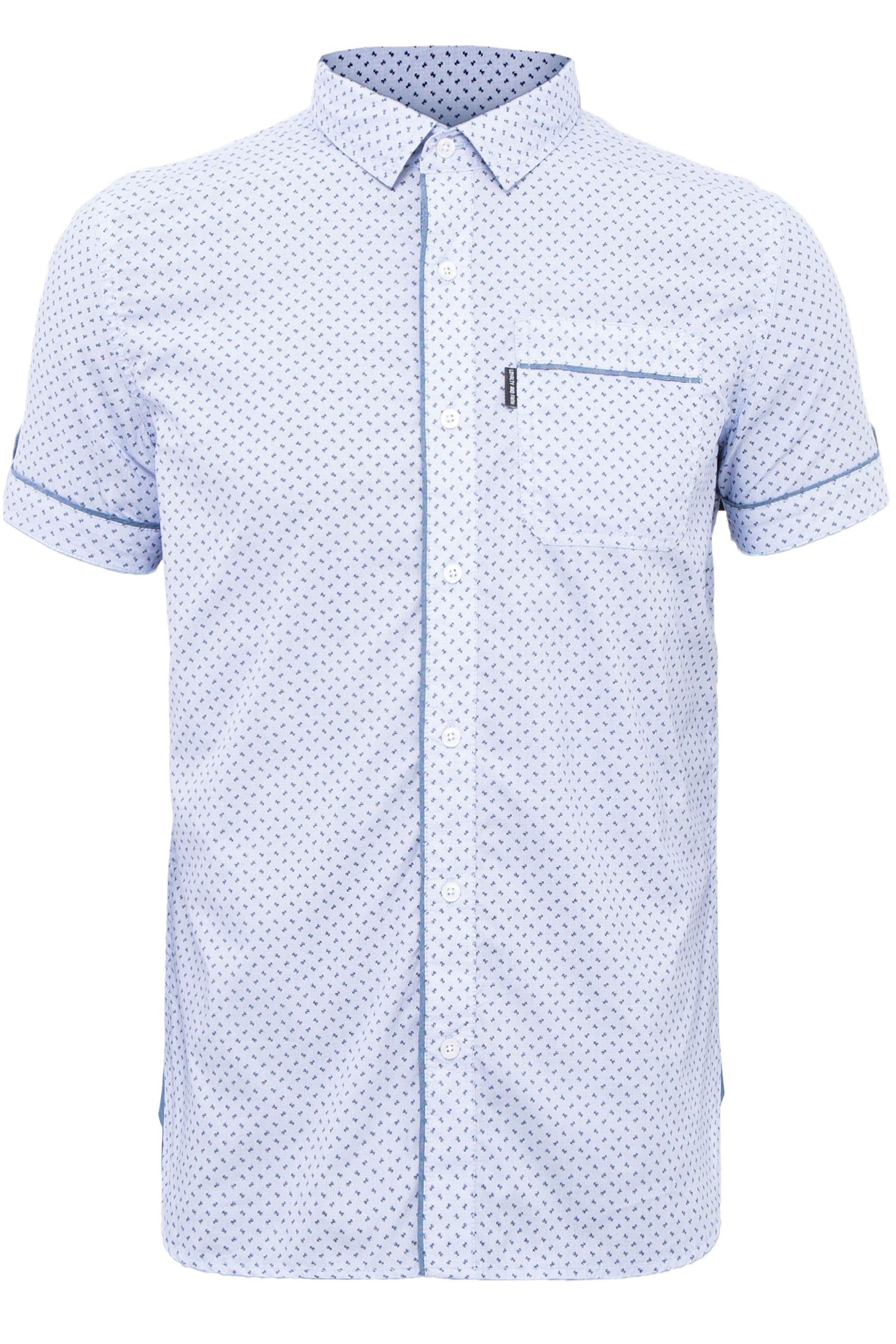 LOYALTY & FAITH Light Blue Printed Shirt