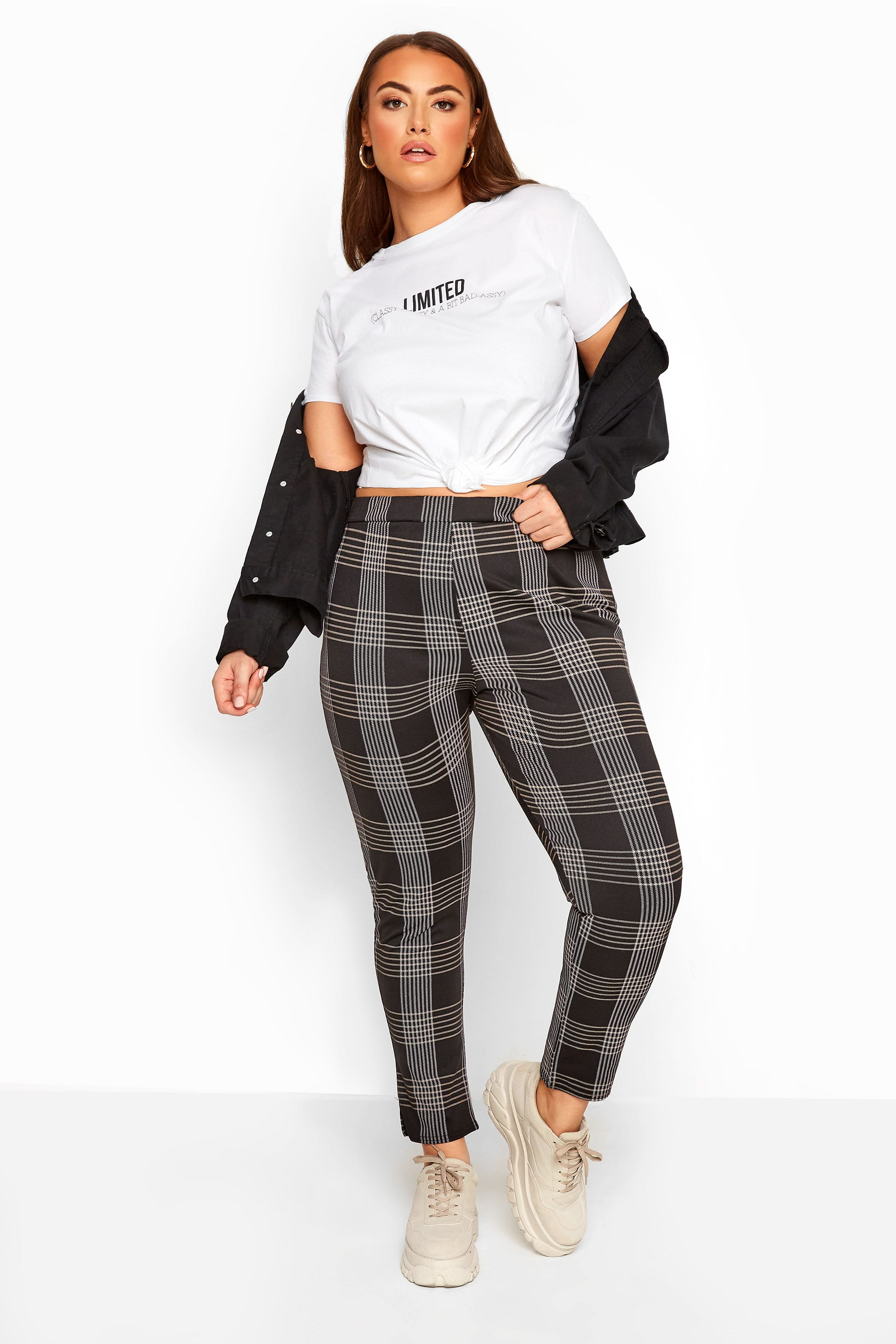 LIMITED COLLECTION Black Check Trousers