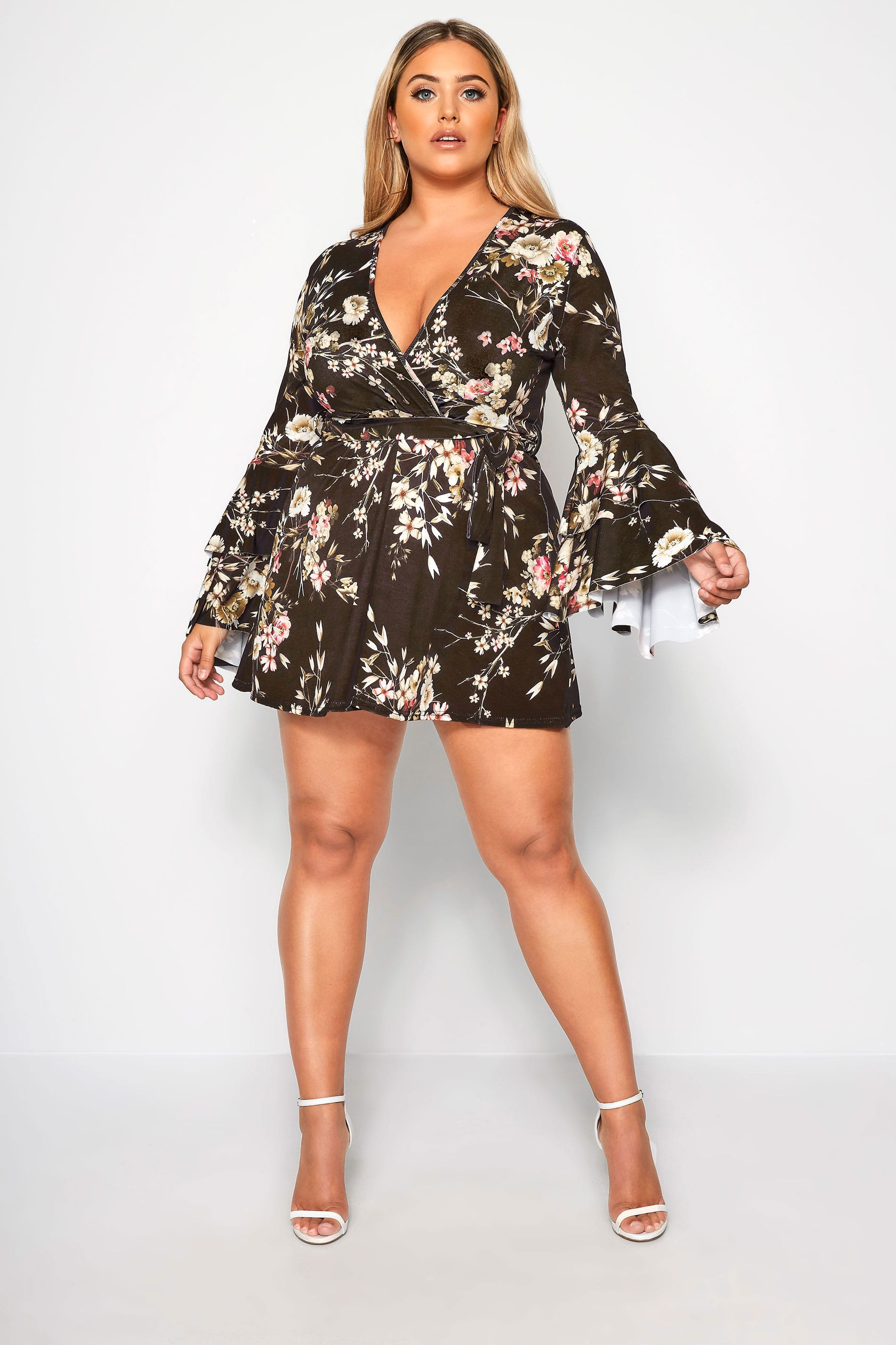 Limited Collection Robe Cache Coeur Noire Volante Grande Taille 44 64 Yours Clothing