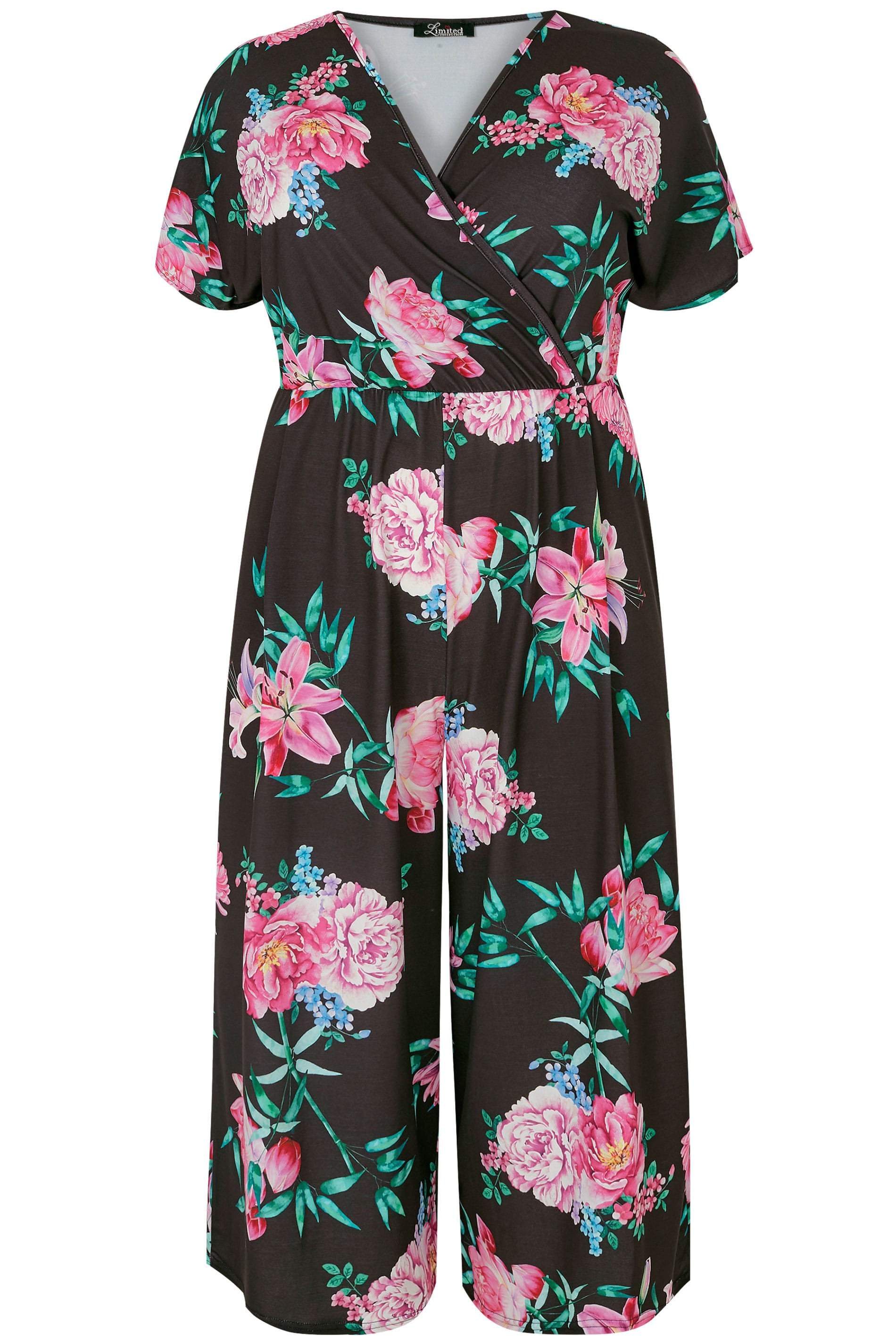 sports shoes fashion style special discount of LIMITED COLLECTION Black & Pink Floral Jumpsuit