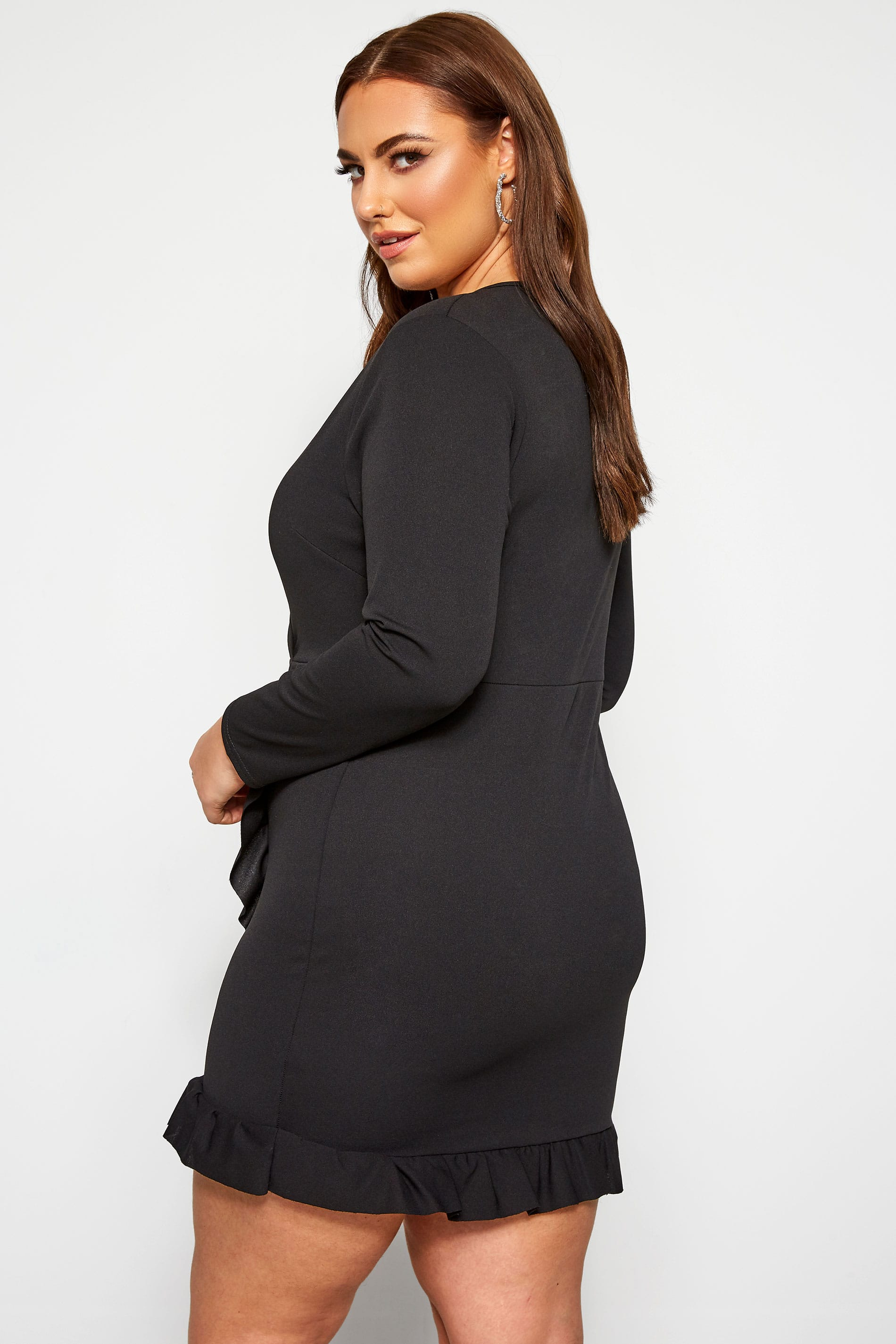 LIMITED COLLECTION Black Milkmaid Bodycon Dress | Yours