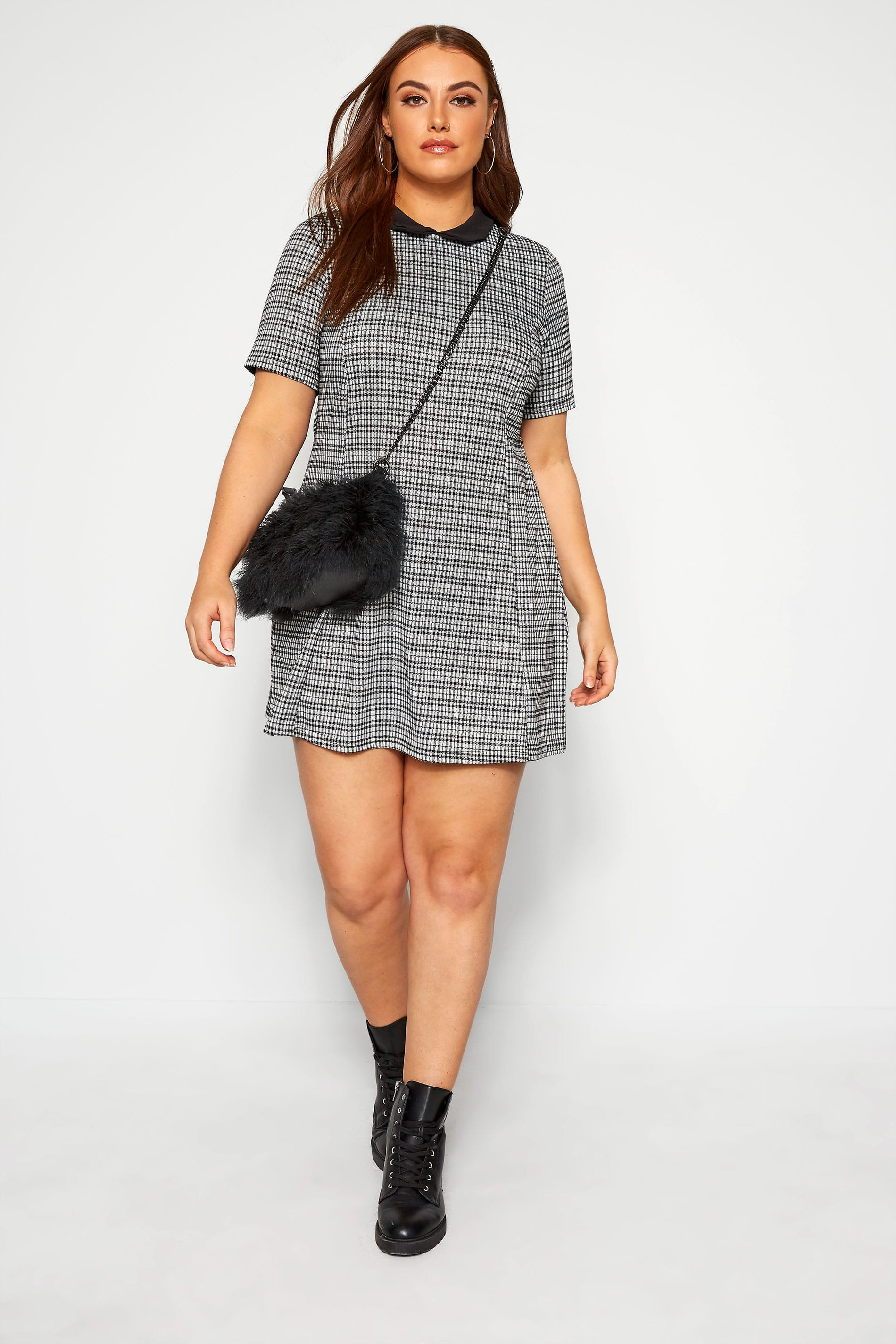 LIMITED COLLECTION Black & White Check Dress