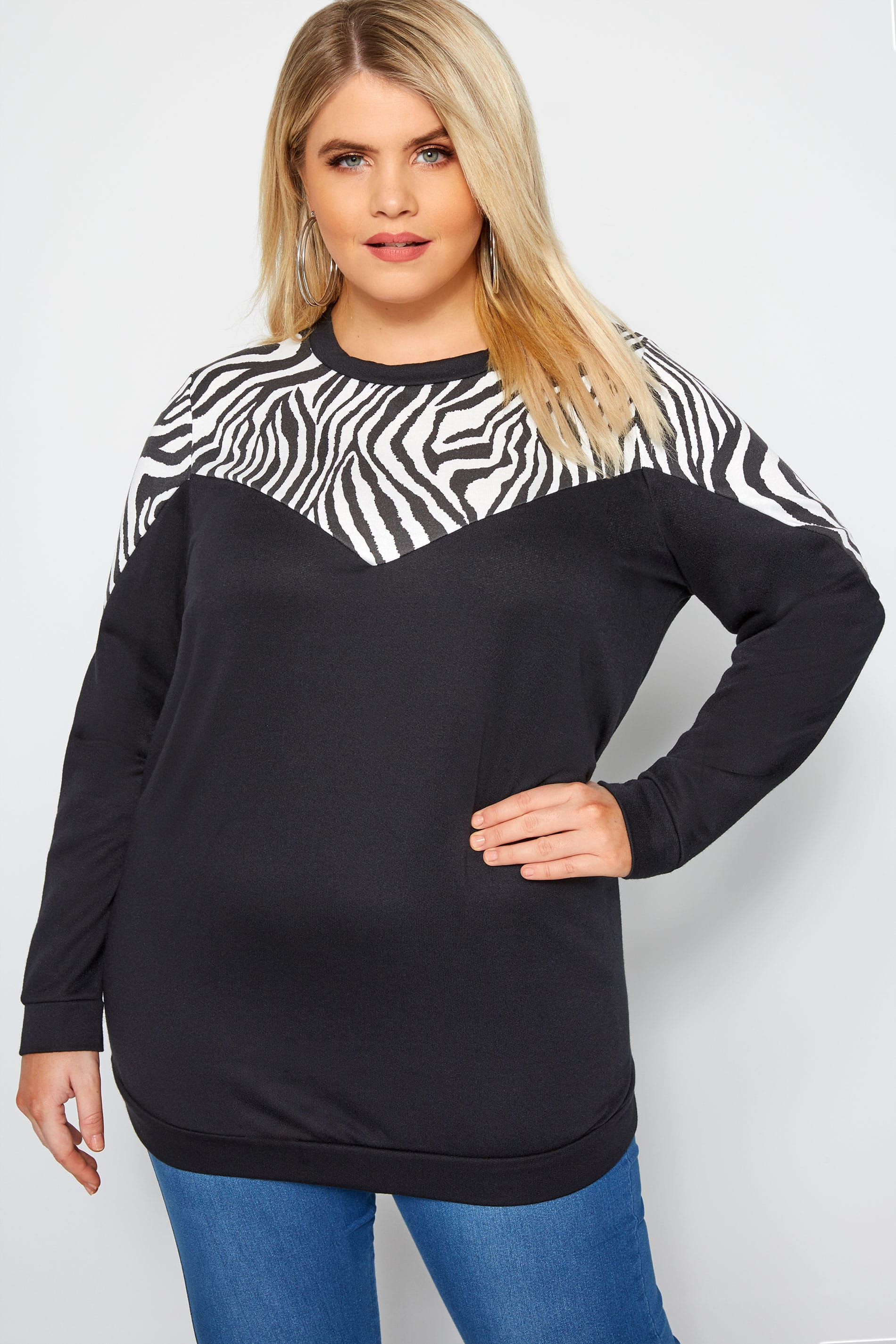 Black Zebra Chevron Sweatshirt