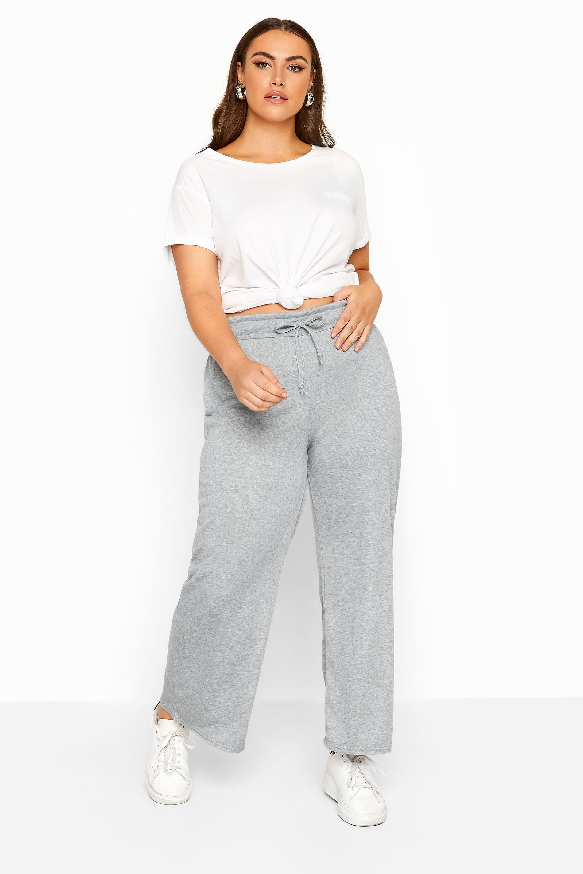 LIMITED COLLECTION Grey Marl Wide Leg Joggers