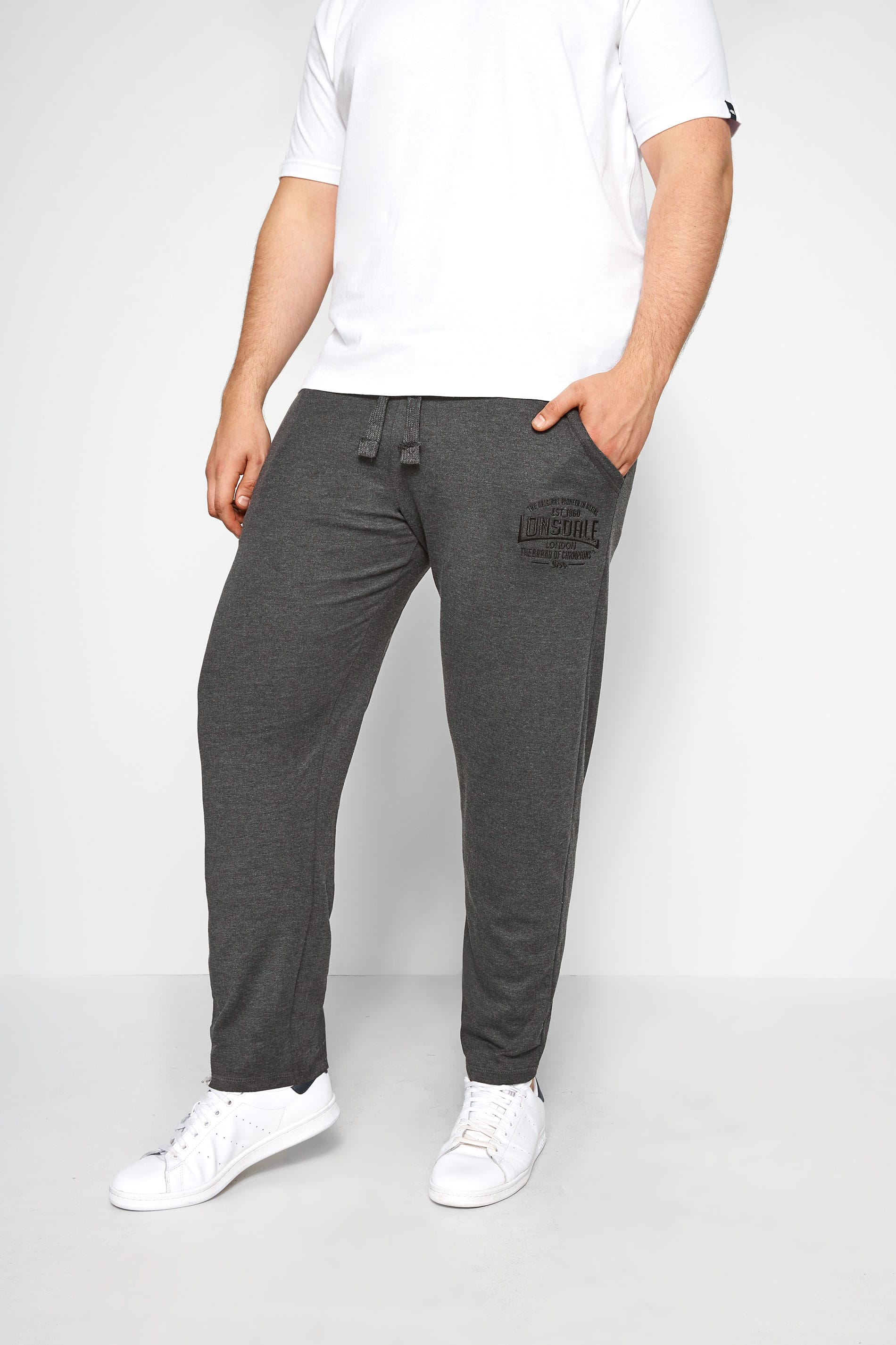 LONSDALE Charcoal Logo Joggers