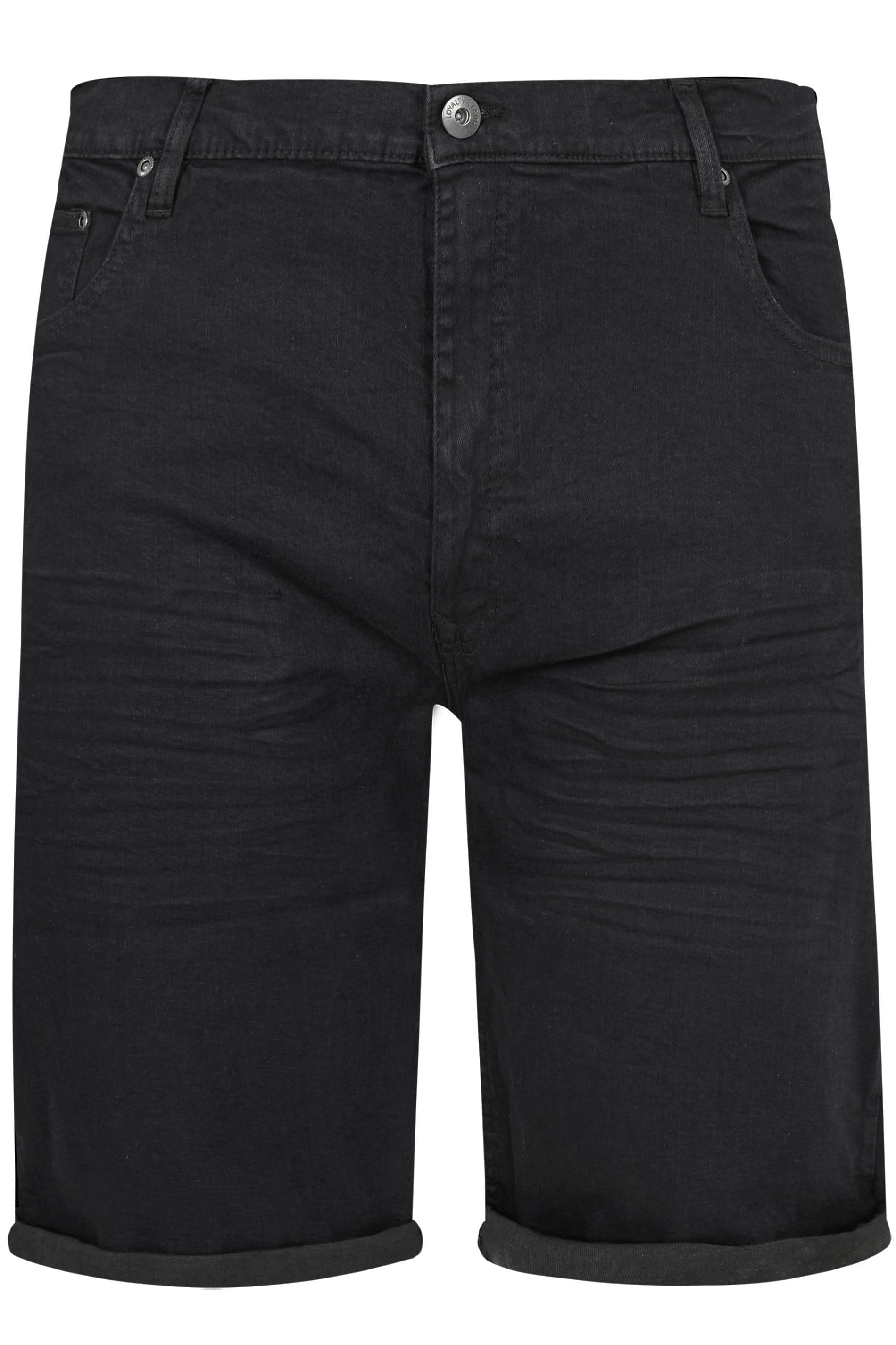 LOYALTY & FAITH Black Straight Leg Shorts