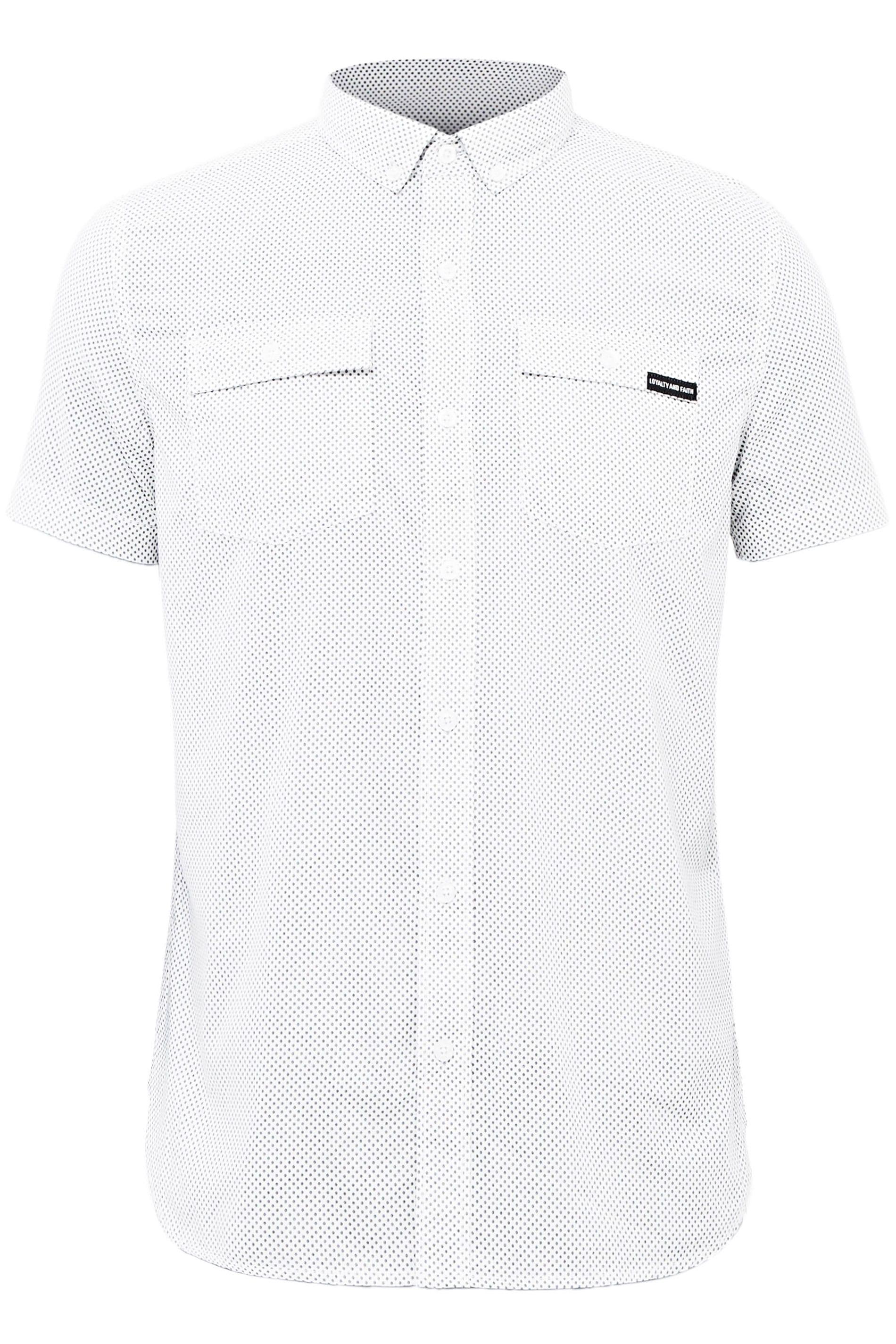 LOYALTY & FAITH White Printed Button Down Shirt