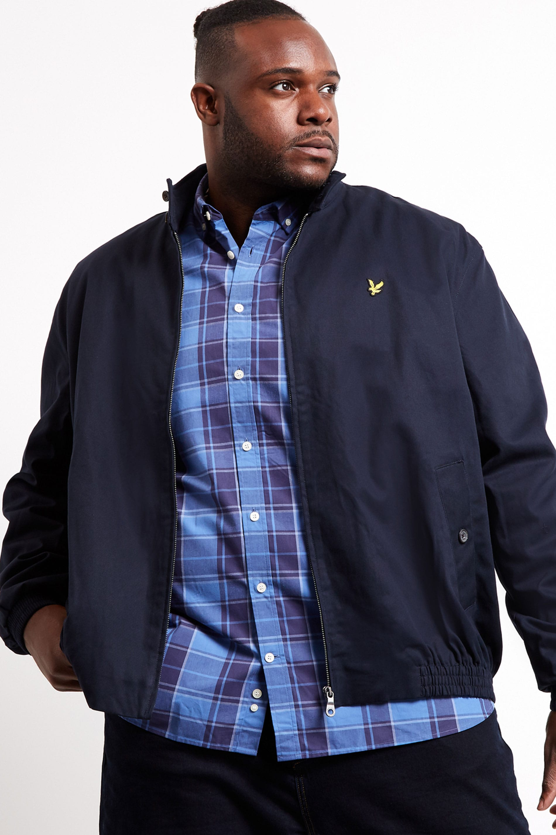 LYLE & SCOTT Navy Harrington Jacket