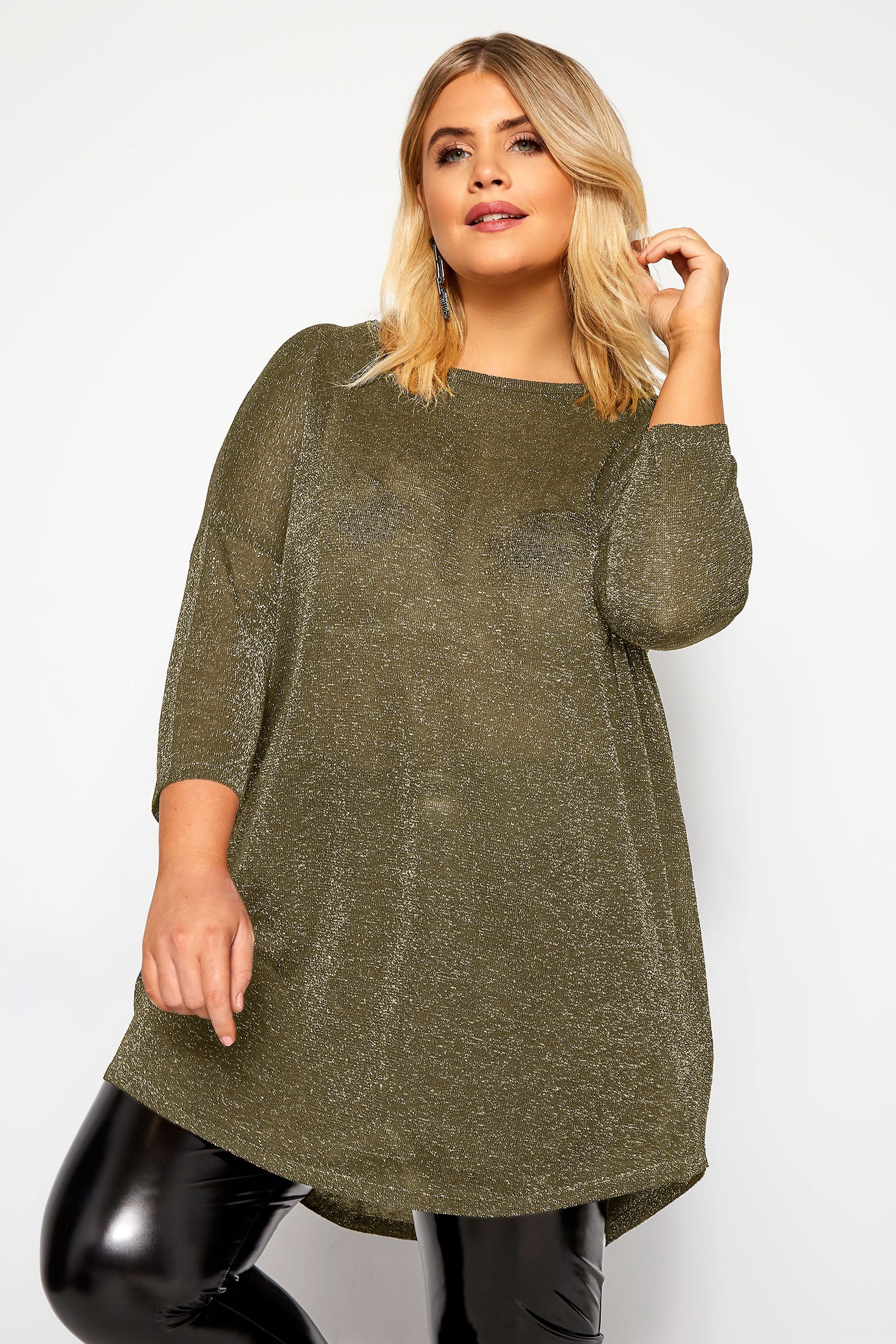 Gold Metallic Knitted Jumper
