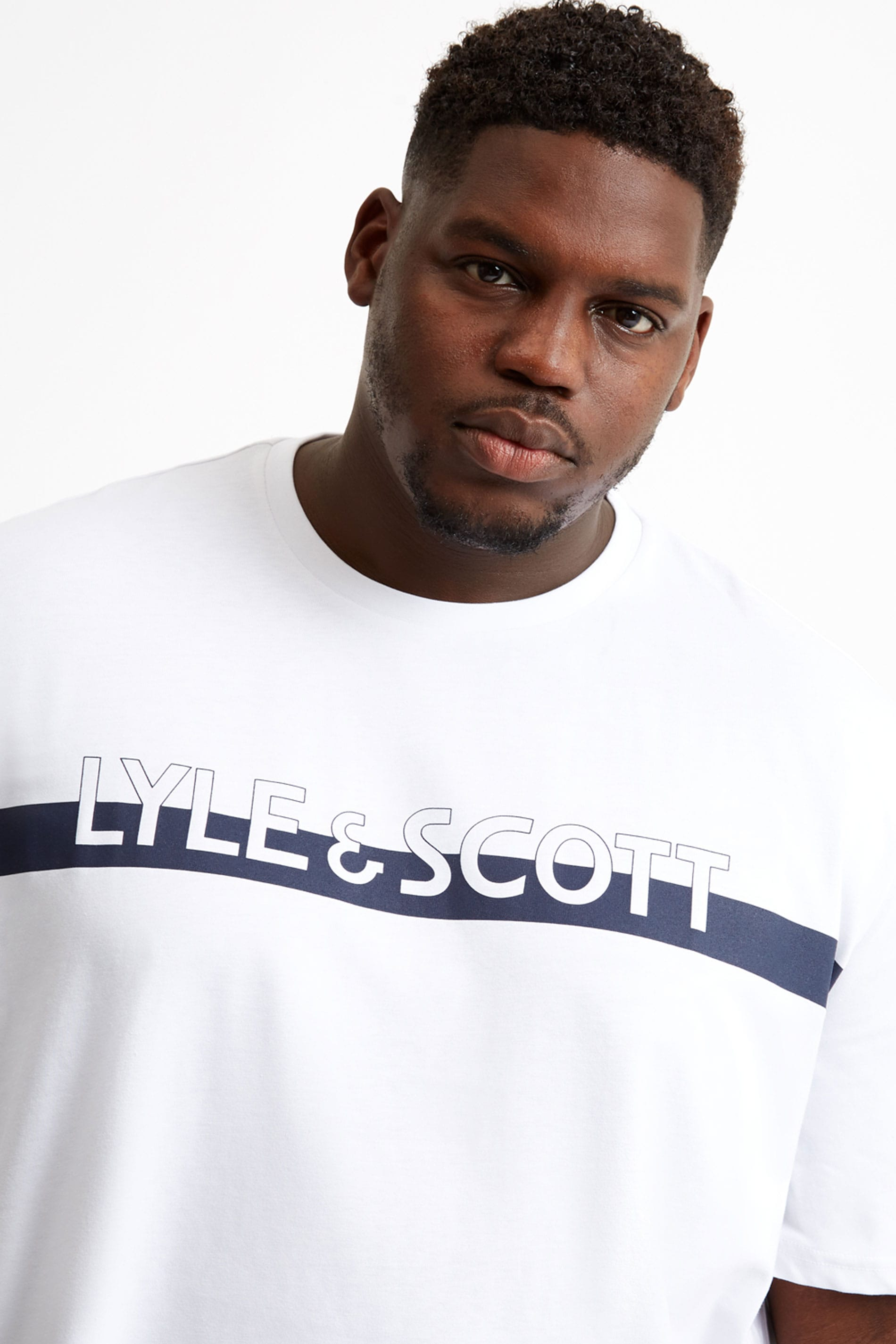 LYLE & SCOTT White Logo T-Shirt