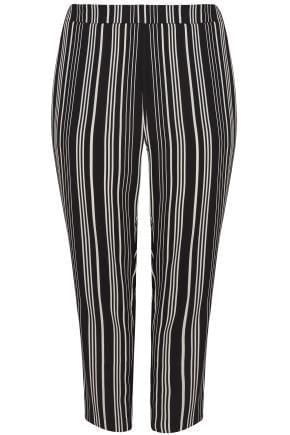 Yours Clothing Women/'s Plus Size White Stripe Utility Shirt