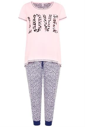 Yours Clothing Women/'s Plus Size Pink Leopard Print Nightdress