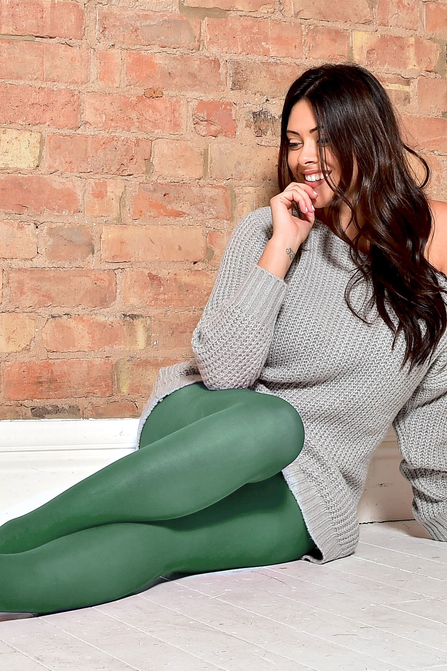 Leaf Green 50 Denier Tights