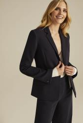 Navy Versatile Textured Suit Jacket