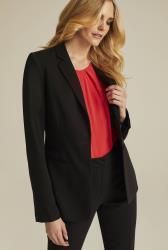 Versatile Textured Suit Longline Jacket
