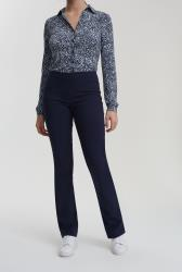 Navy Allegro Bootcut Trousers