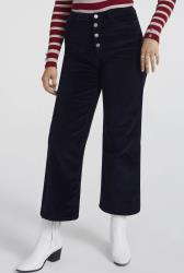 Navy Button Fly Cord Culotte